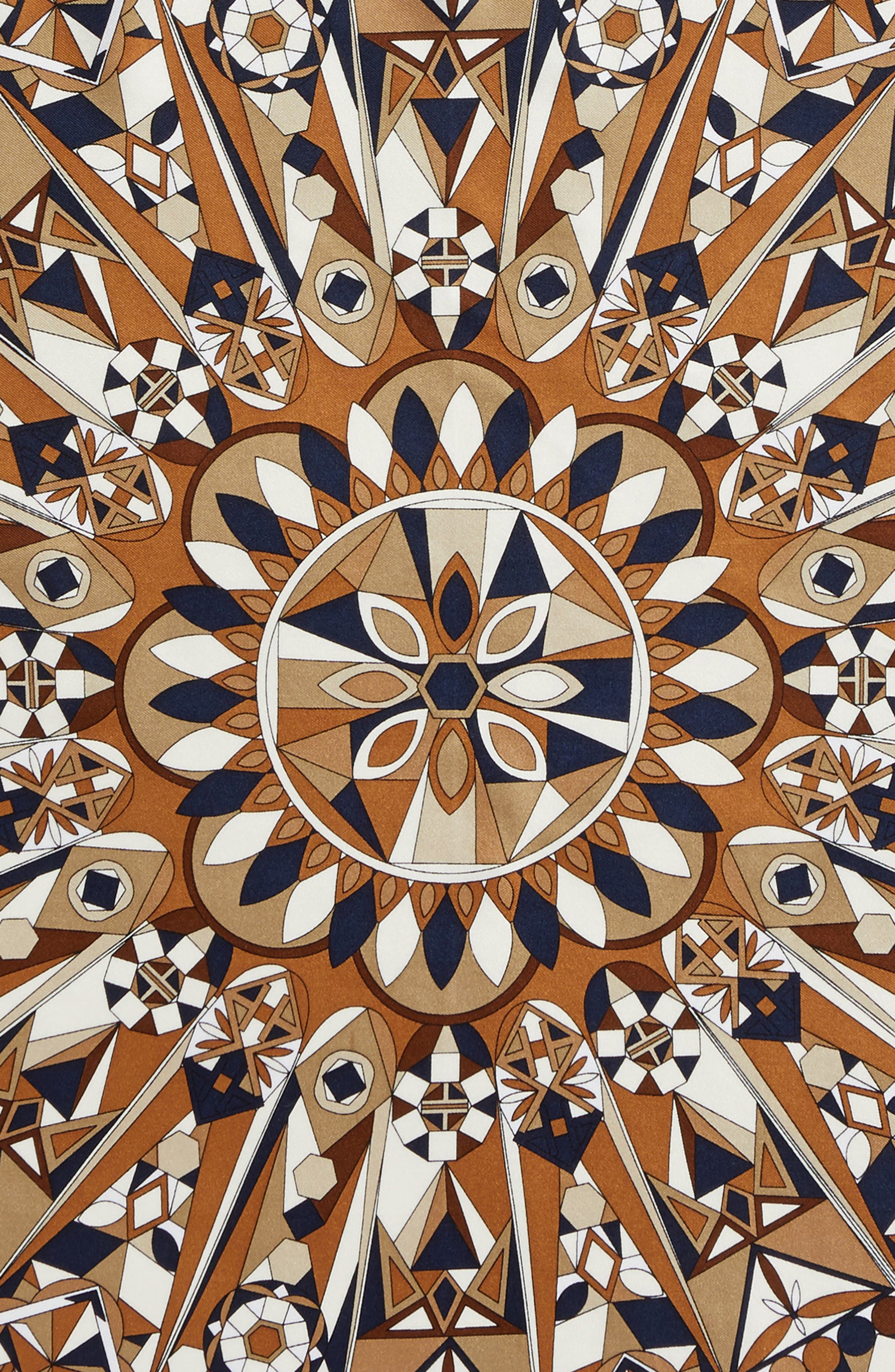 Psychedelic Geo Silk Neckerchief,                             Alternate thumbnail 7, color,
