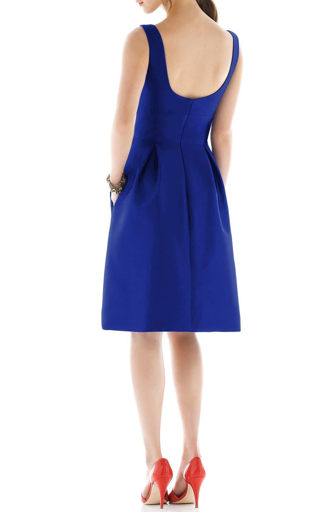 Dupioni Fit & Flare Dress,                             Alternate thumbnail 21, color,