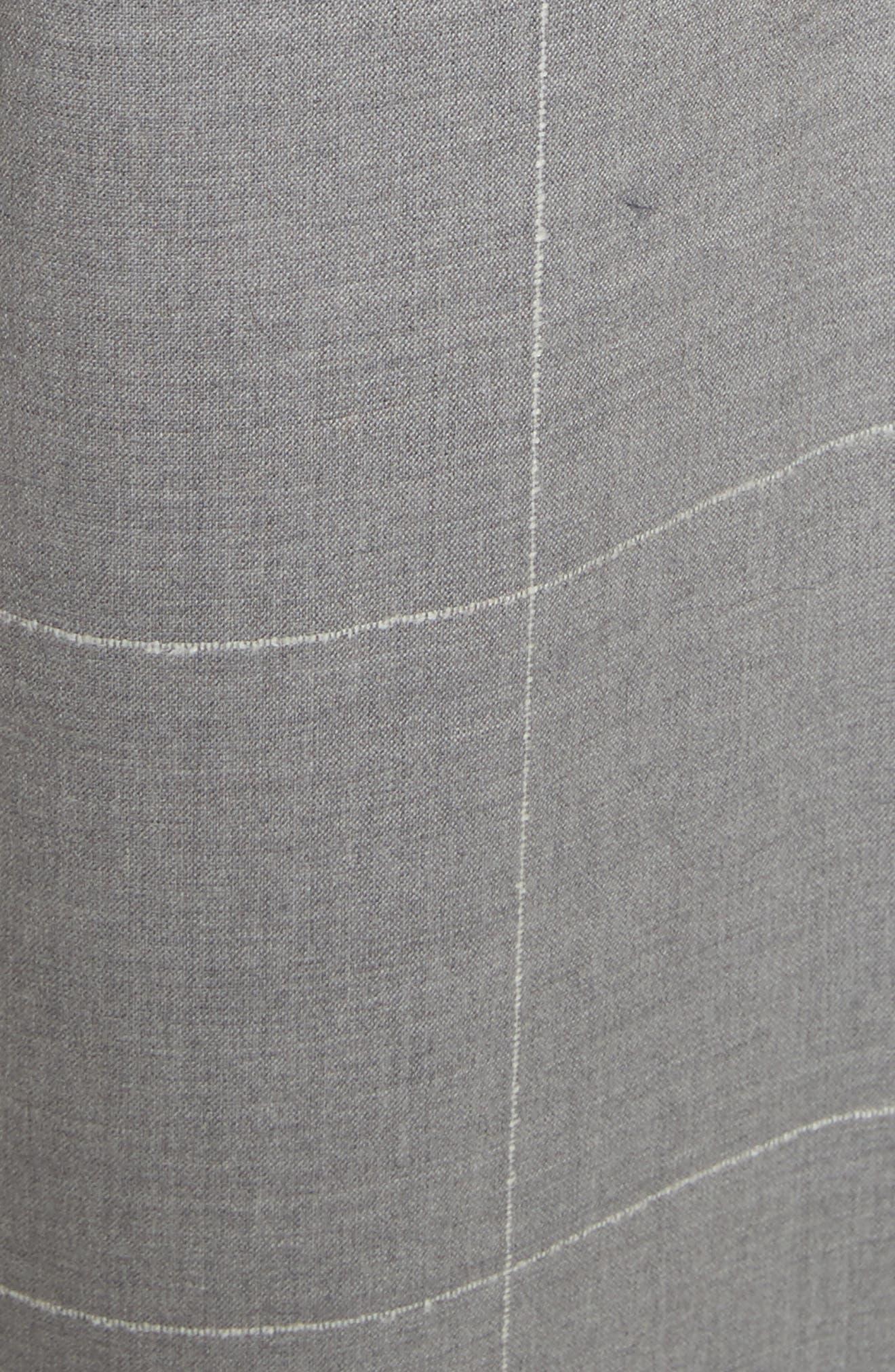 Windowpane Check Wool Wide Leg Crop Pants,                             Alternate thumbnail 5, color,                             062