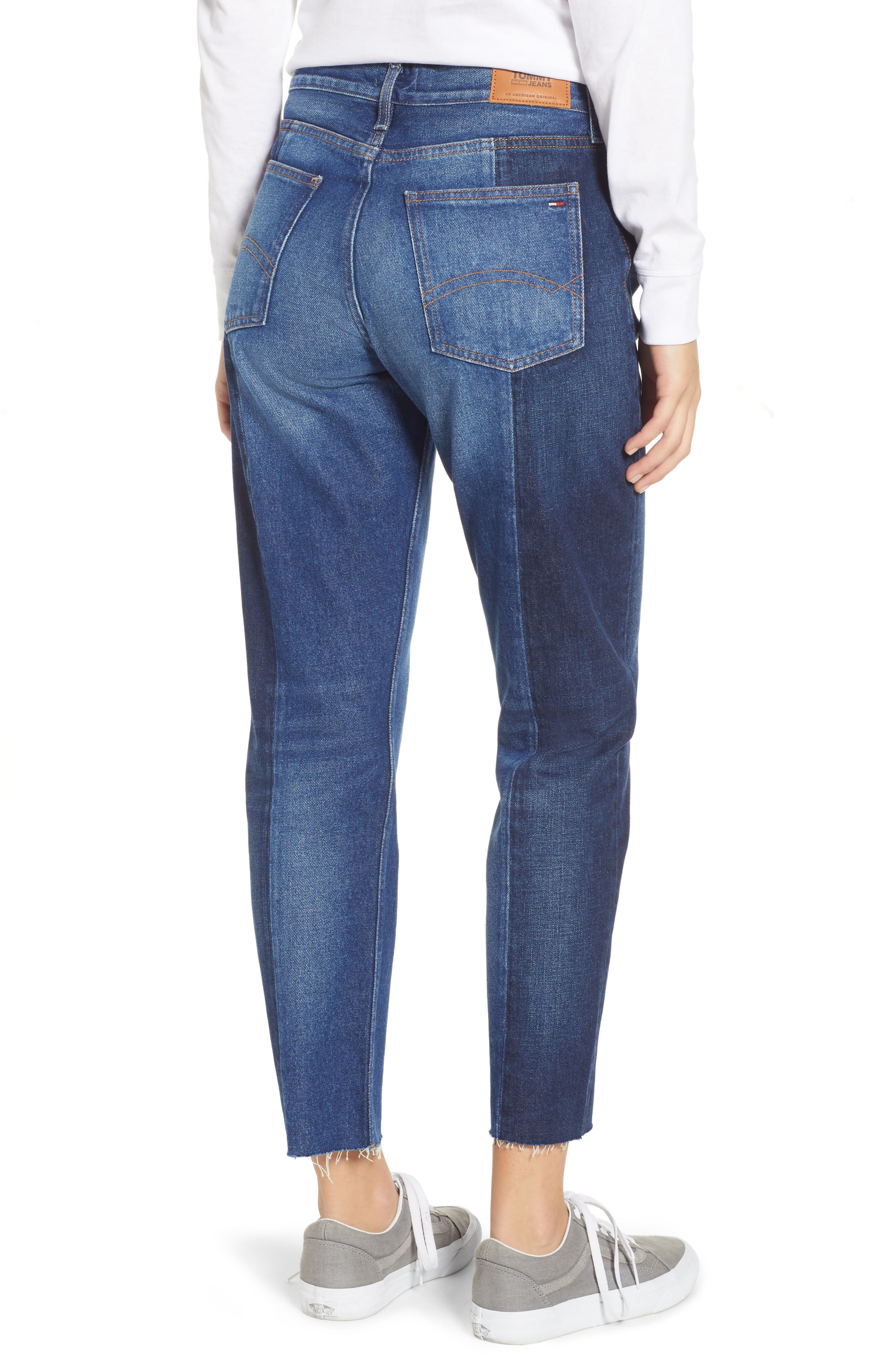 Izzy Paneled Slim Ankle Jeans,                             Alternate thumbnail 2, color,                             TOMMY JEAN NEW COMBO