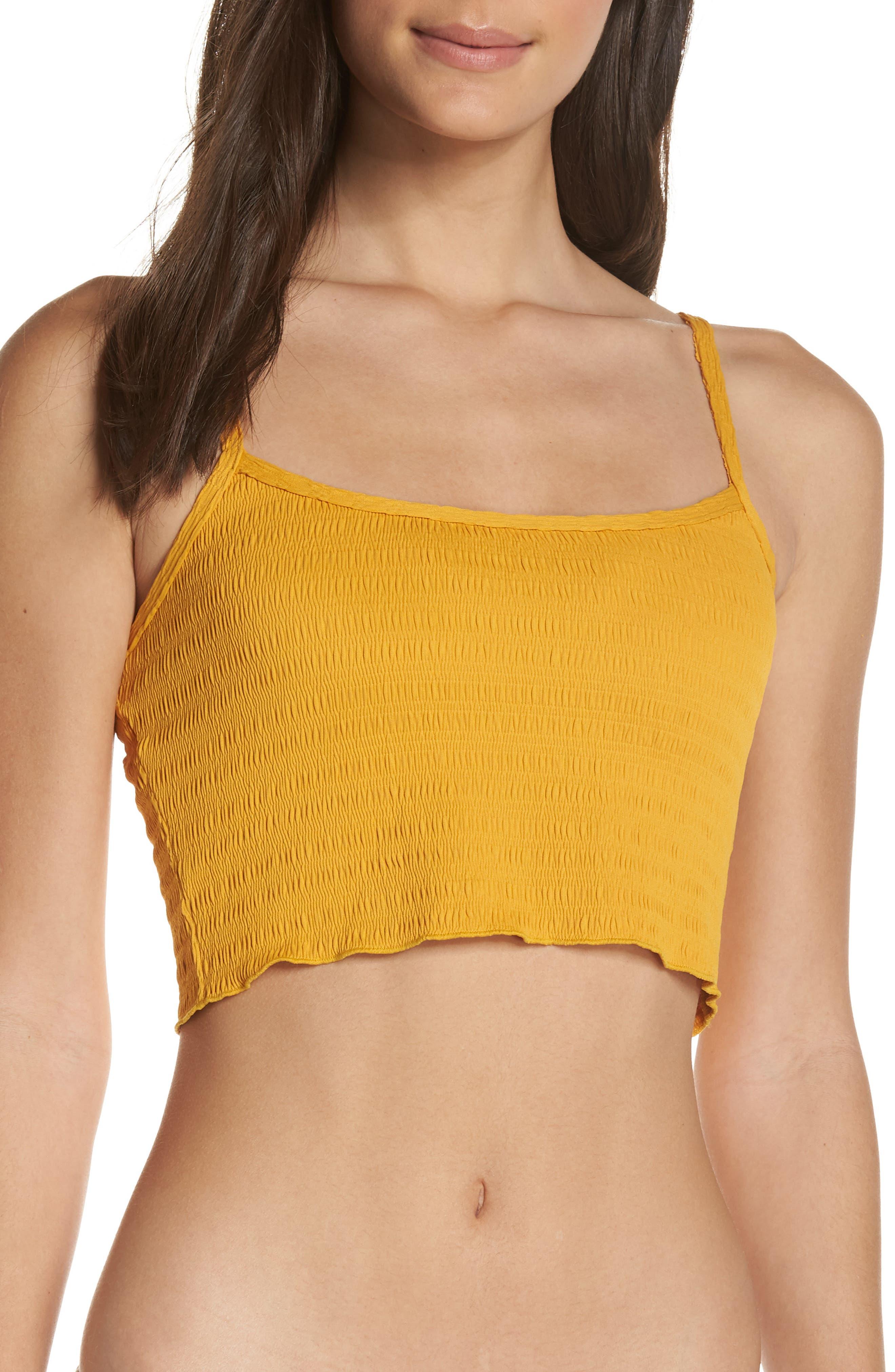 Billabong Sun Rise Beach Cami Bikini Top, Yellow