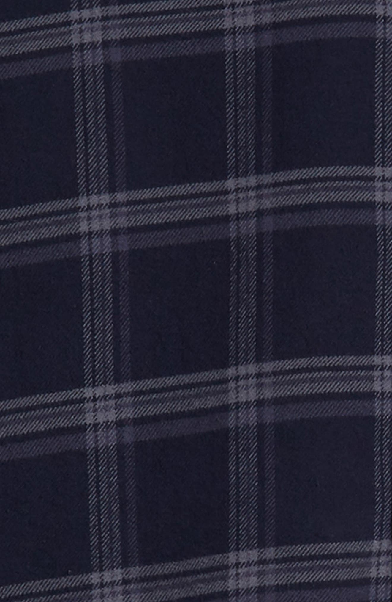 Forrest Slim Fit Plaid Flannel Sport Shirt,                             Alternate thumbnail 6, color,                             NAVY/HEATHERED CHARCOAL