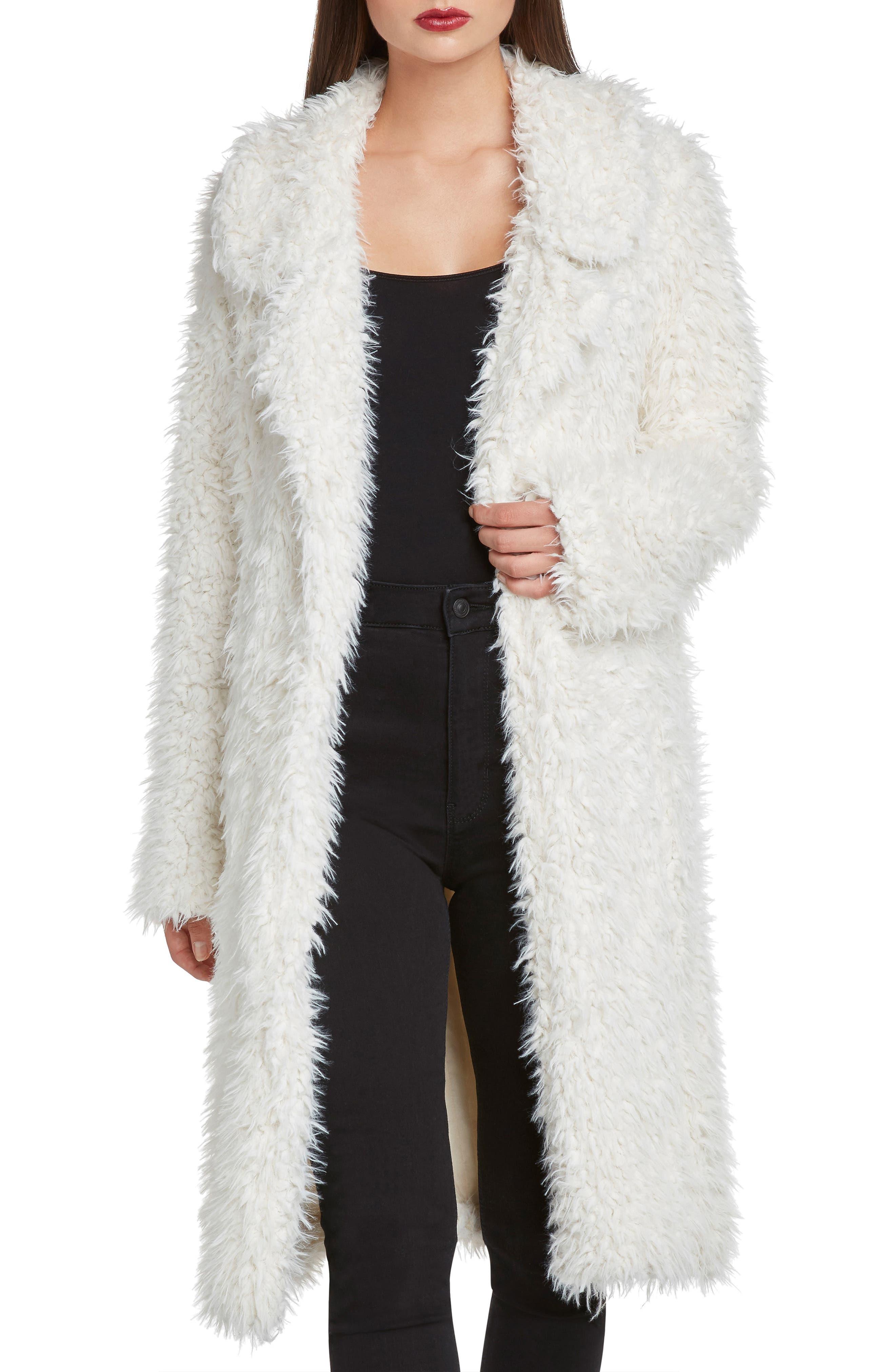WILLOW & CLAY,                             Faux Fur Jacket,                             Main thumbnail 1, color,                             900