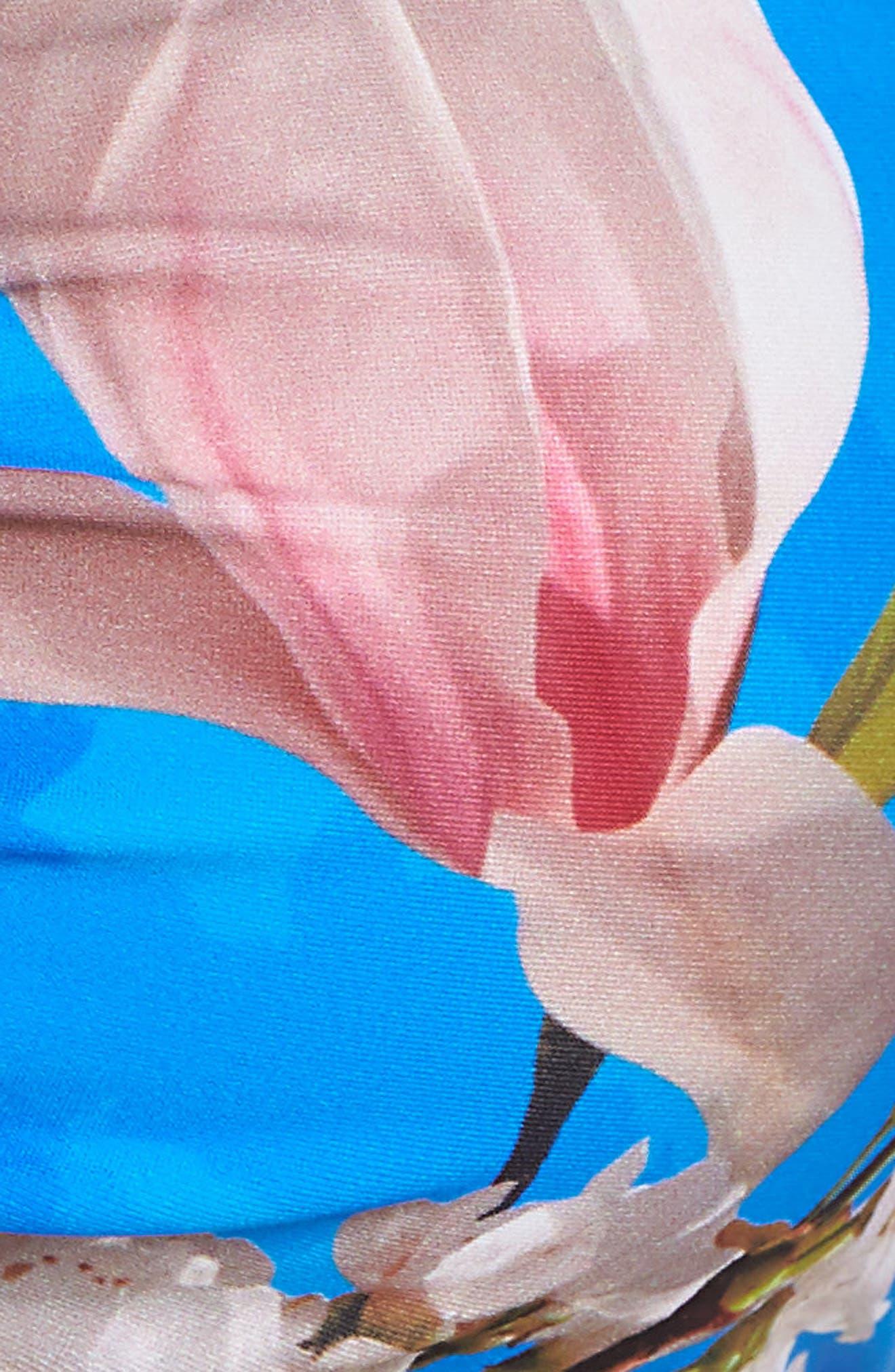 Harmony Strapless Bikini Top,                             Alternate thumbnail 6, color,                             BRIGHT BLUE