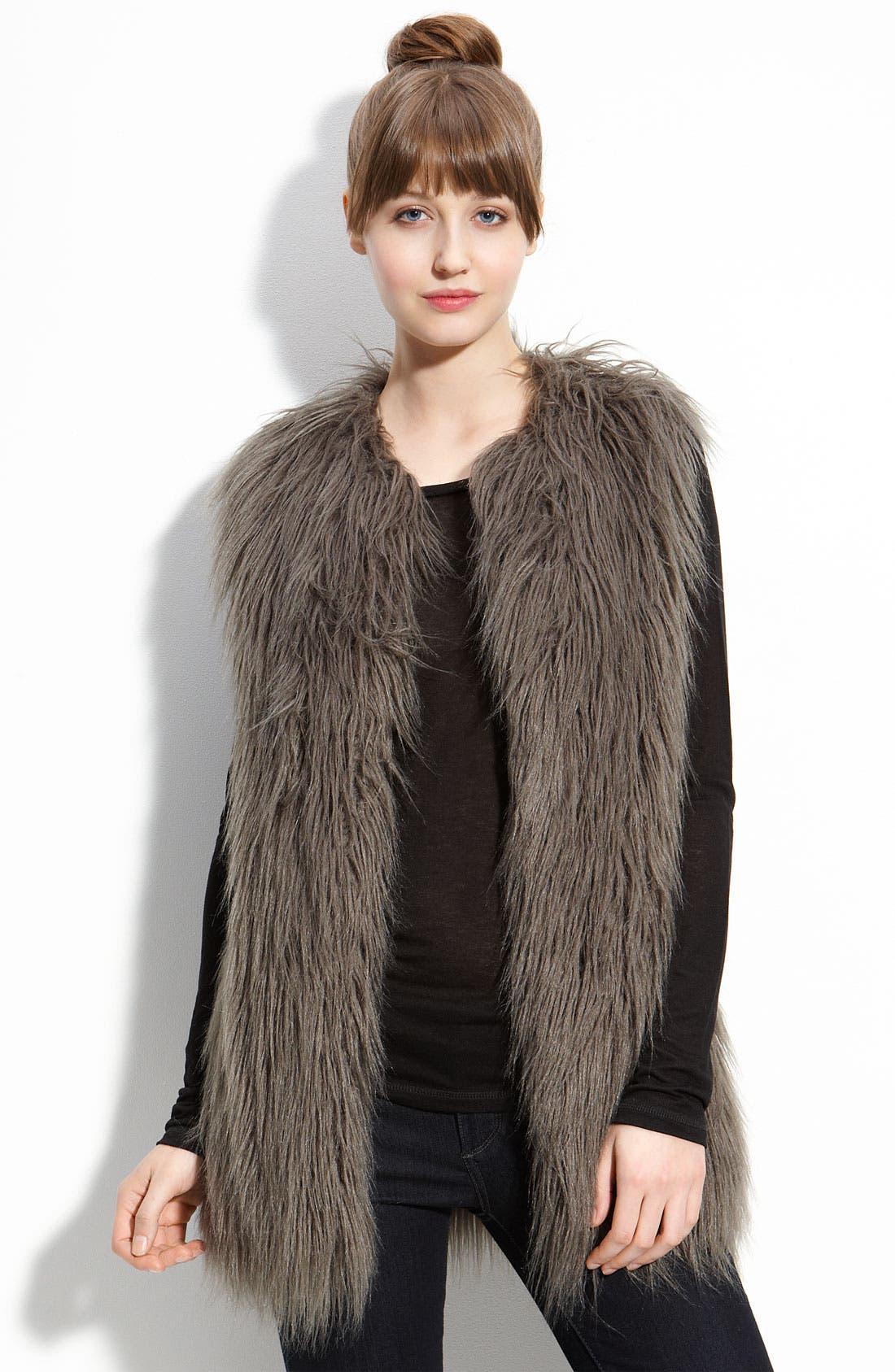 HAWKE & CO,                              Faux Fur Vest,                             Main thumbnail 1, color,                             020