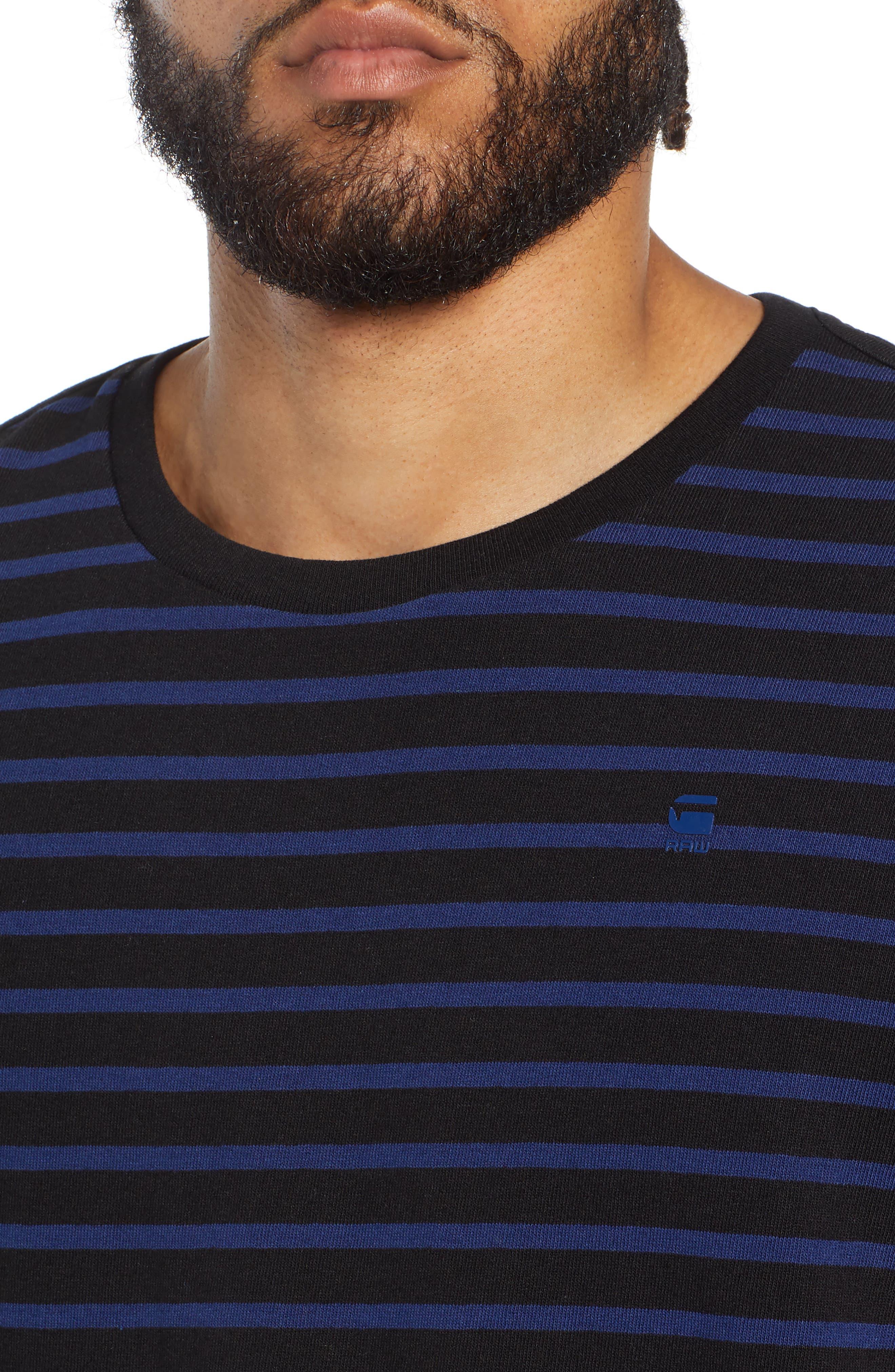 Starkon Stripe T-Shirt,                             Alternate thumbnail 4, color,                             DARK BLACK/ IMPERIAL BLUE