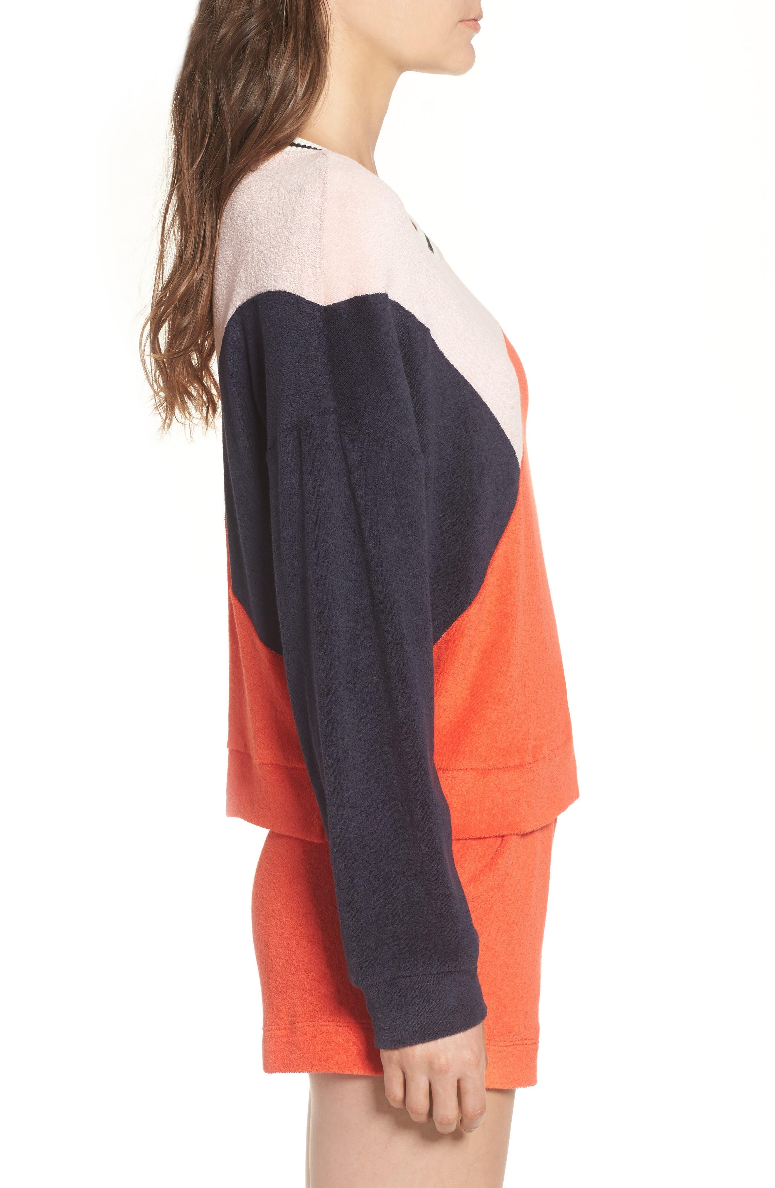 x Margherita Sportivo French Terry Sweatshirt,                             Alternate thumbnail 3, color,                             602