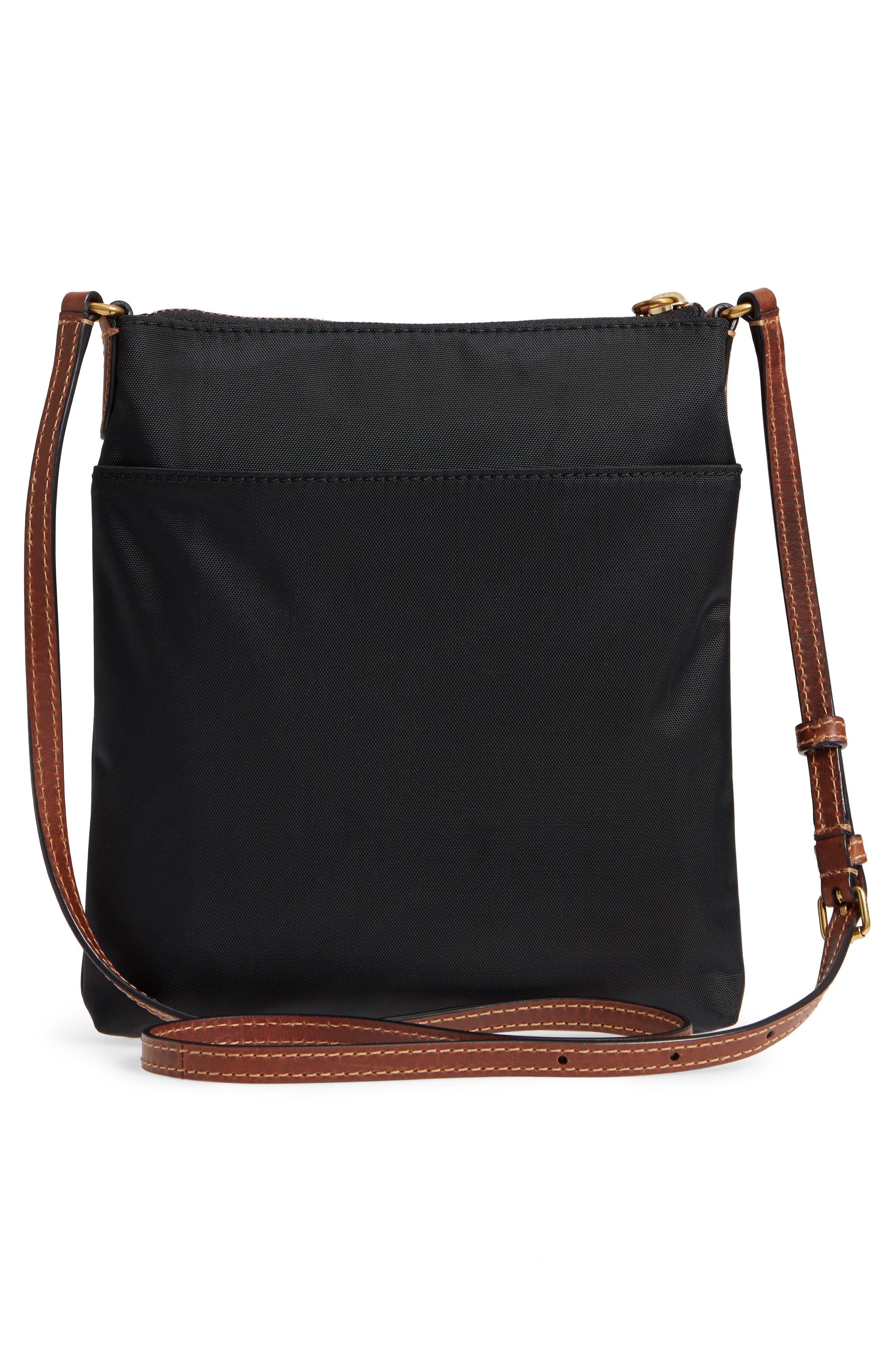 Ivy Nylon Crossbody Bag,                             Alternate thumbnail 3, color,                             001