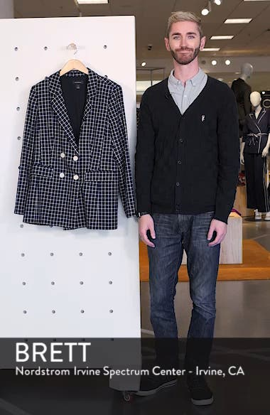 Double Breasted Check Blazer, sales video thumbnail