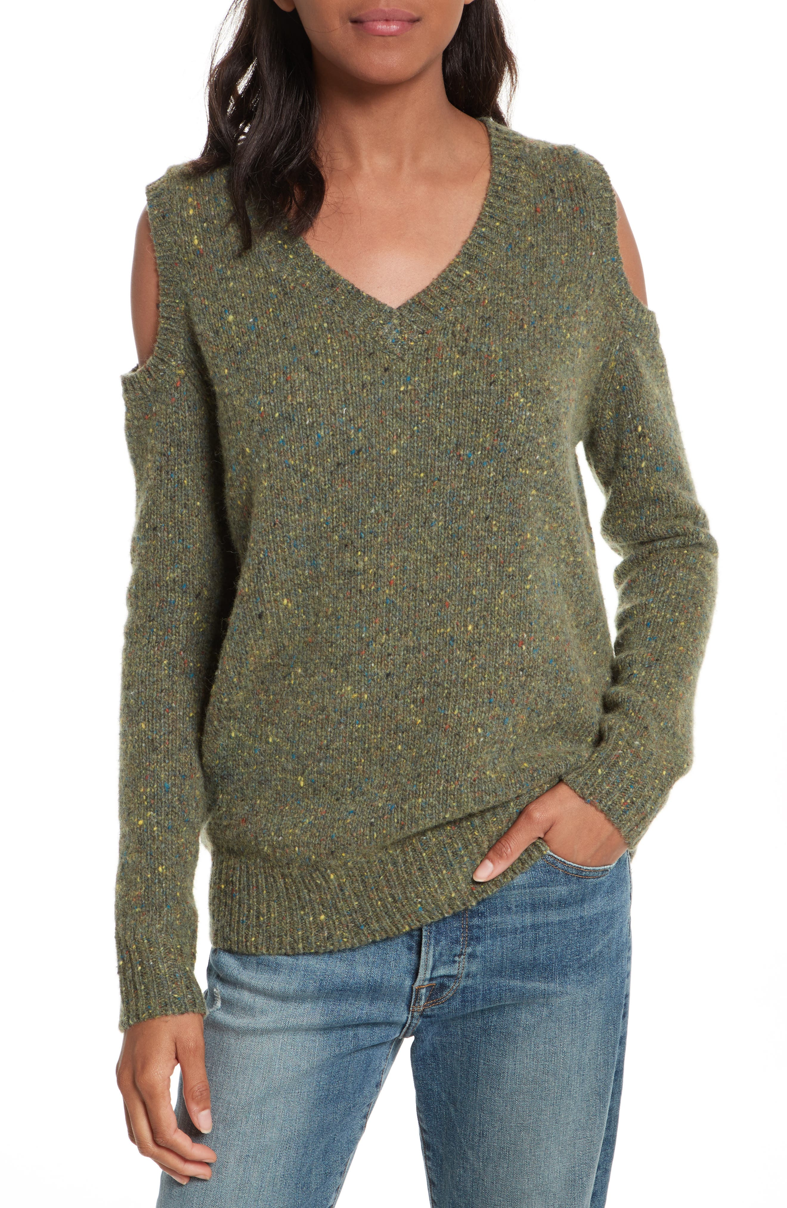 Page Cold Shoulder Sweater,                             Main thumbnail 4, color,