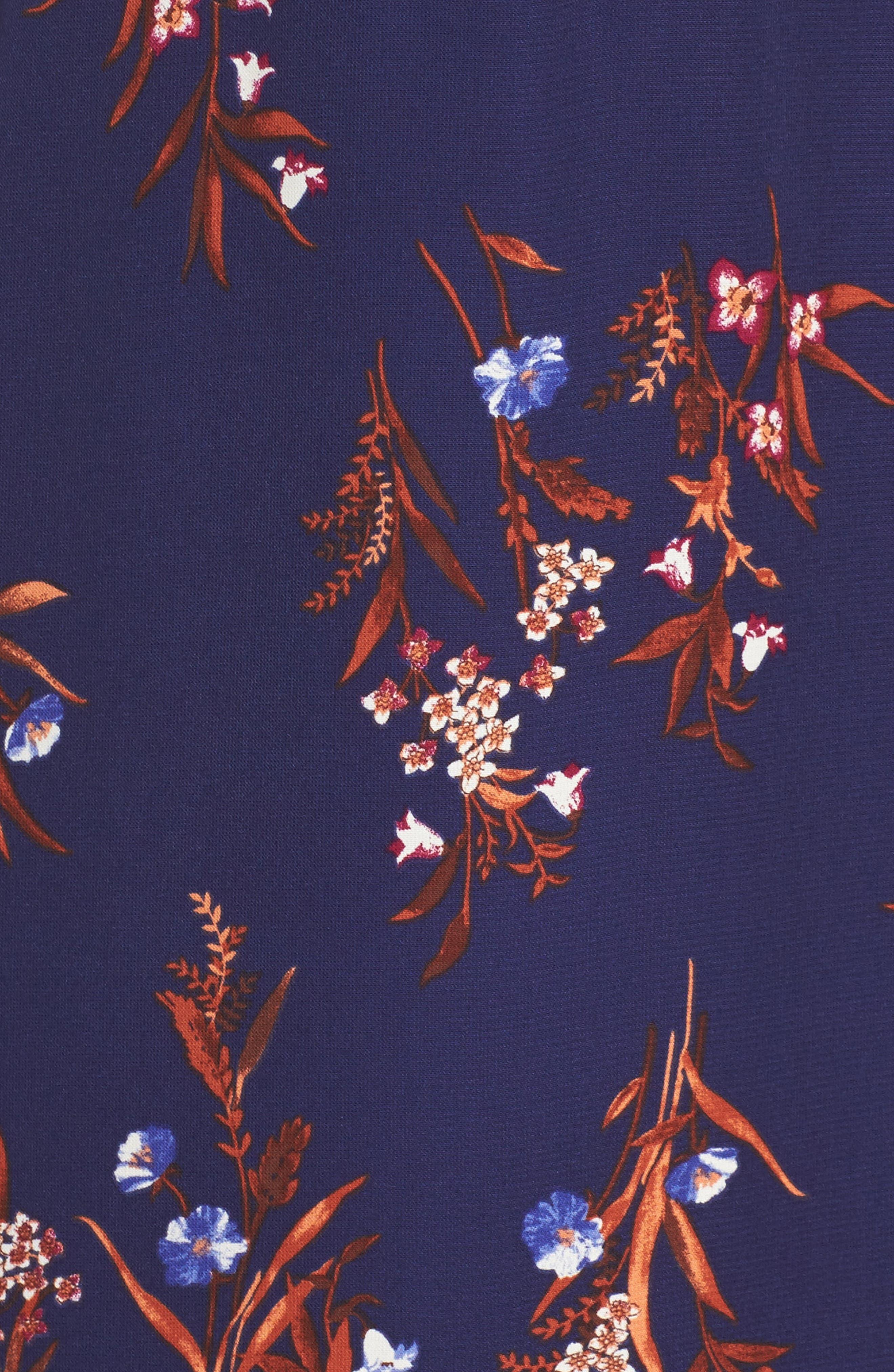 Phoebe Ruffle Fit & Flare Dress,                             Alternate thumbnail 5, color,                             460