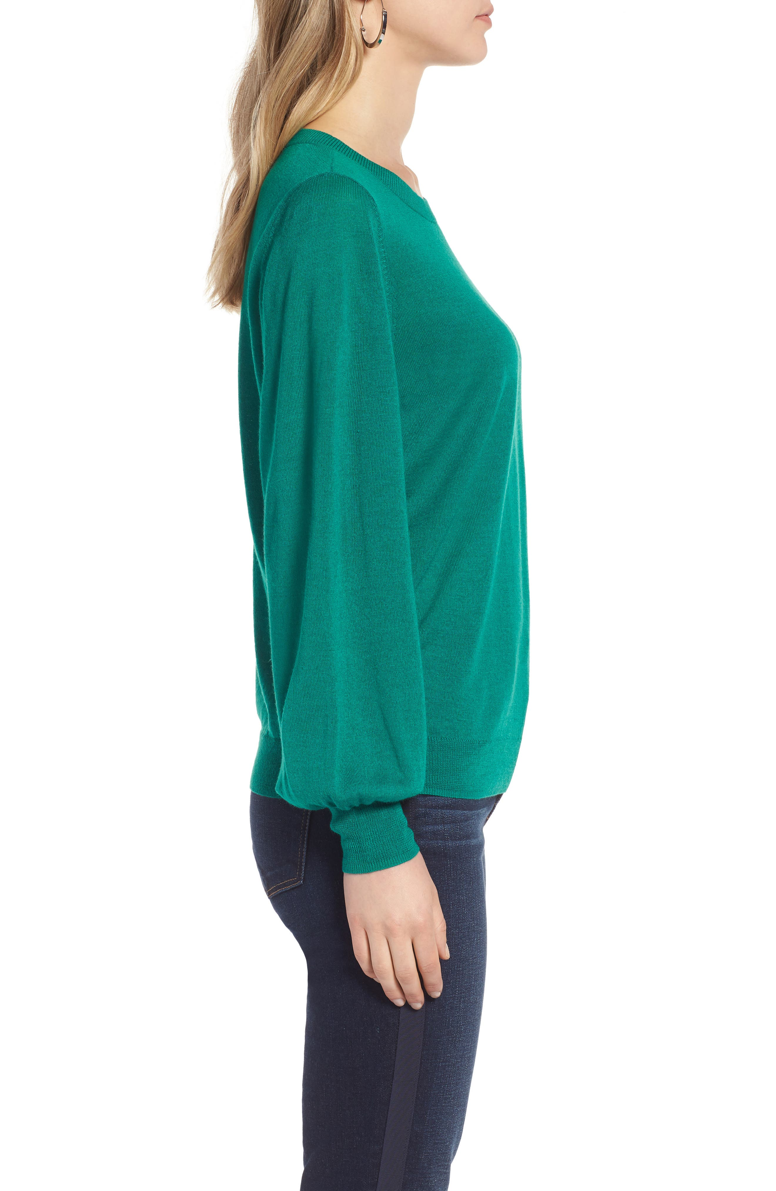Puff Sleeve Sweater,                             Alternate thumbnail 24, color,