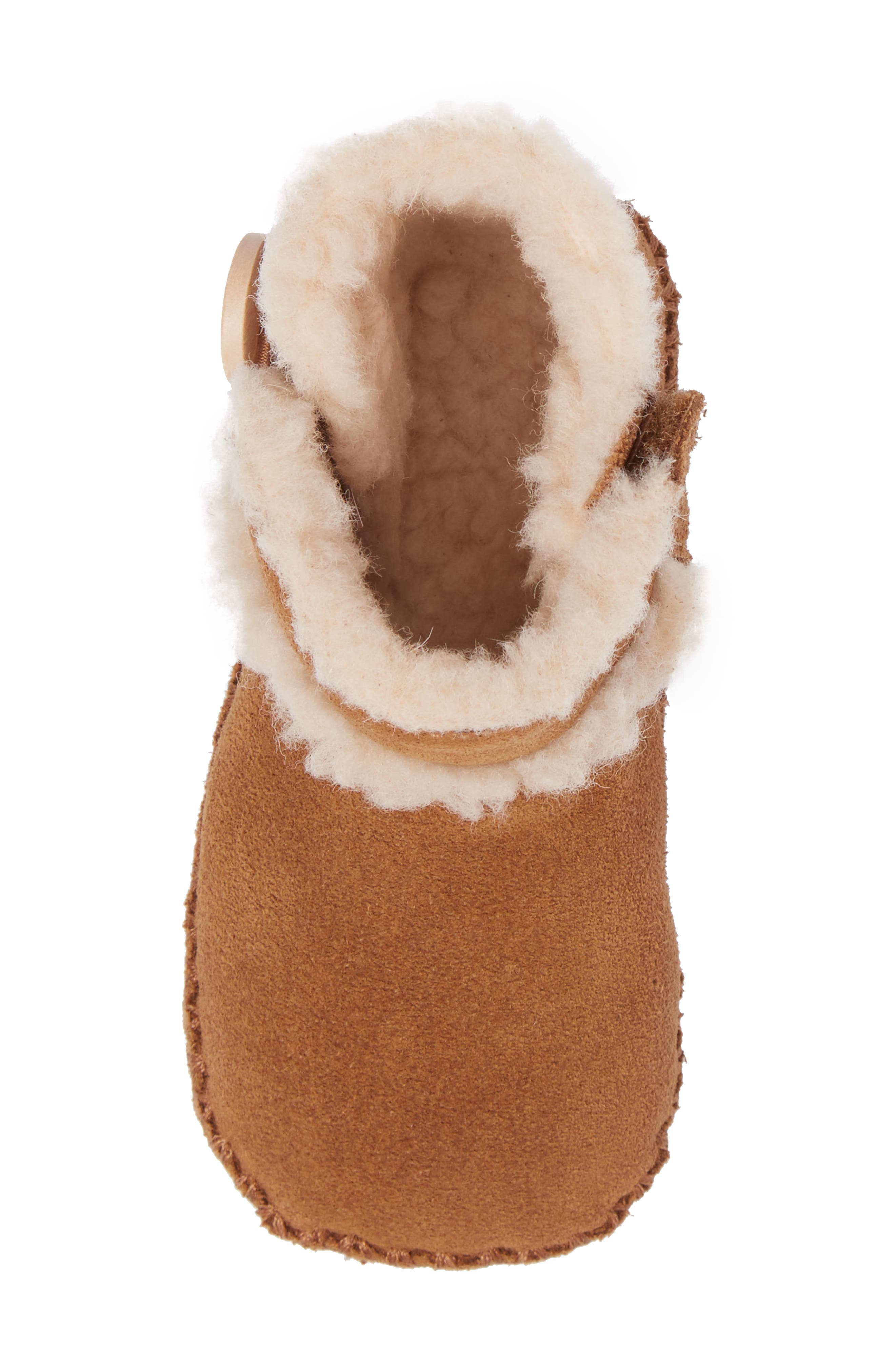 UGG<SUP>®</SUP>,                             Lemmy II Button Bootie,                             Alternate thumbnail 5, color,                             CHESTNUT