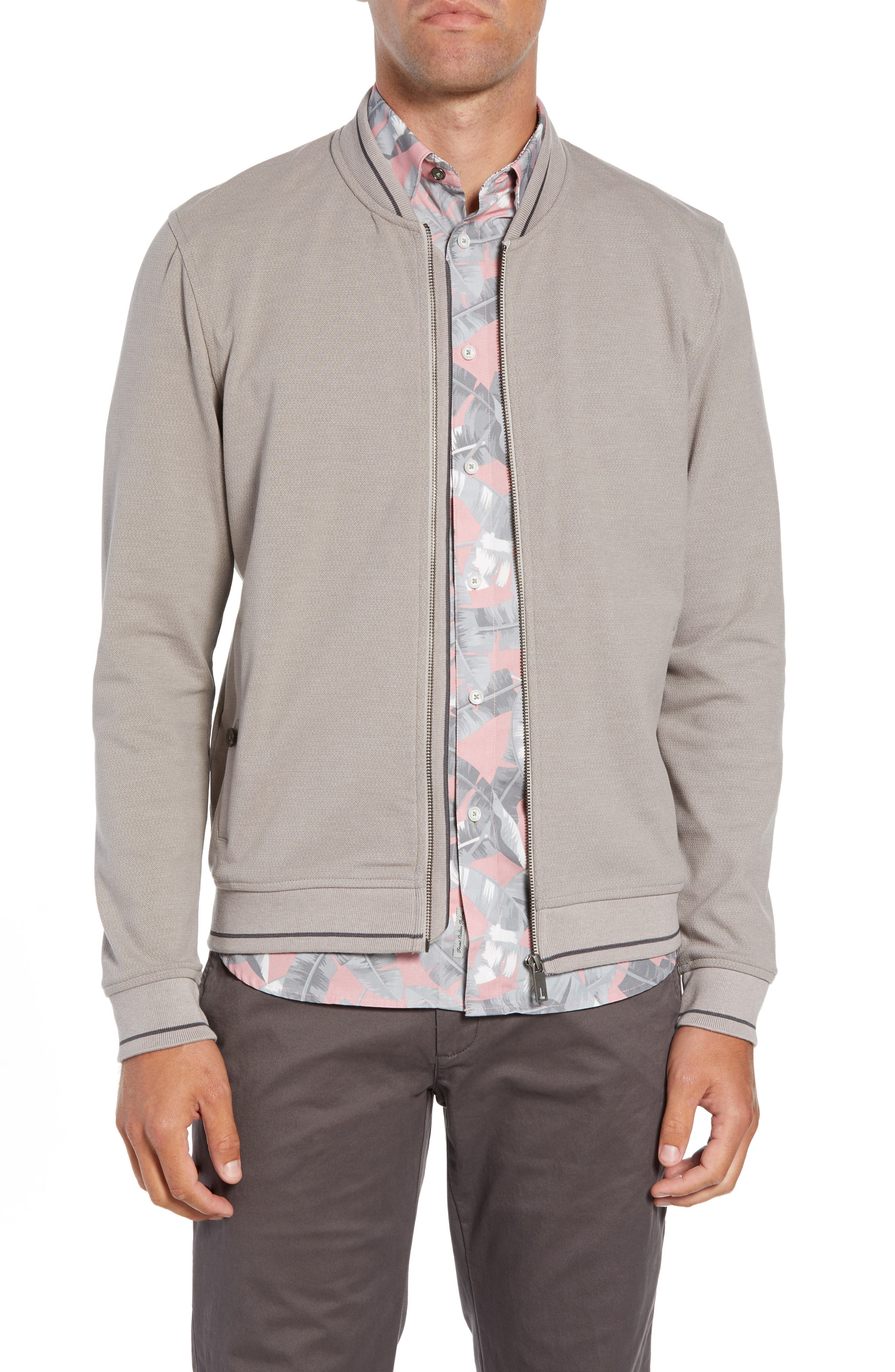 Chicpea Jersey Bomber Jacket,                         Main,                         color, 250