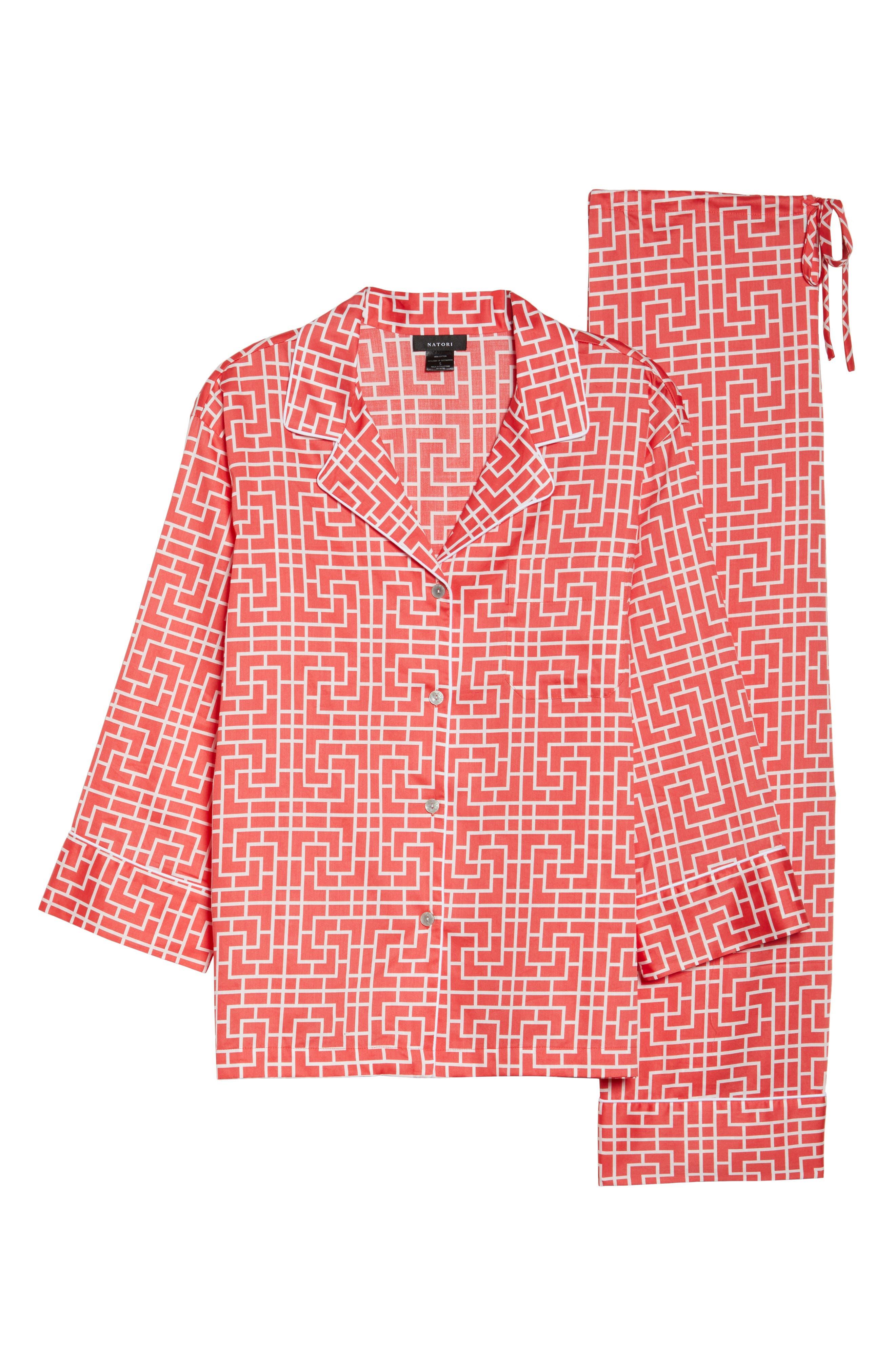 Abstract Maze Sateen Pajamas,                             Alternate thumbnail 12, color,