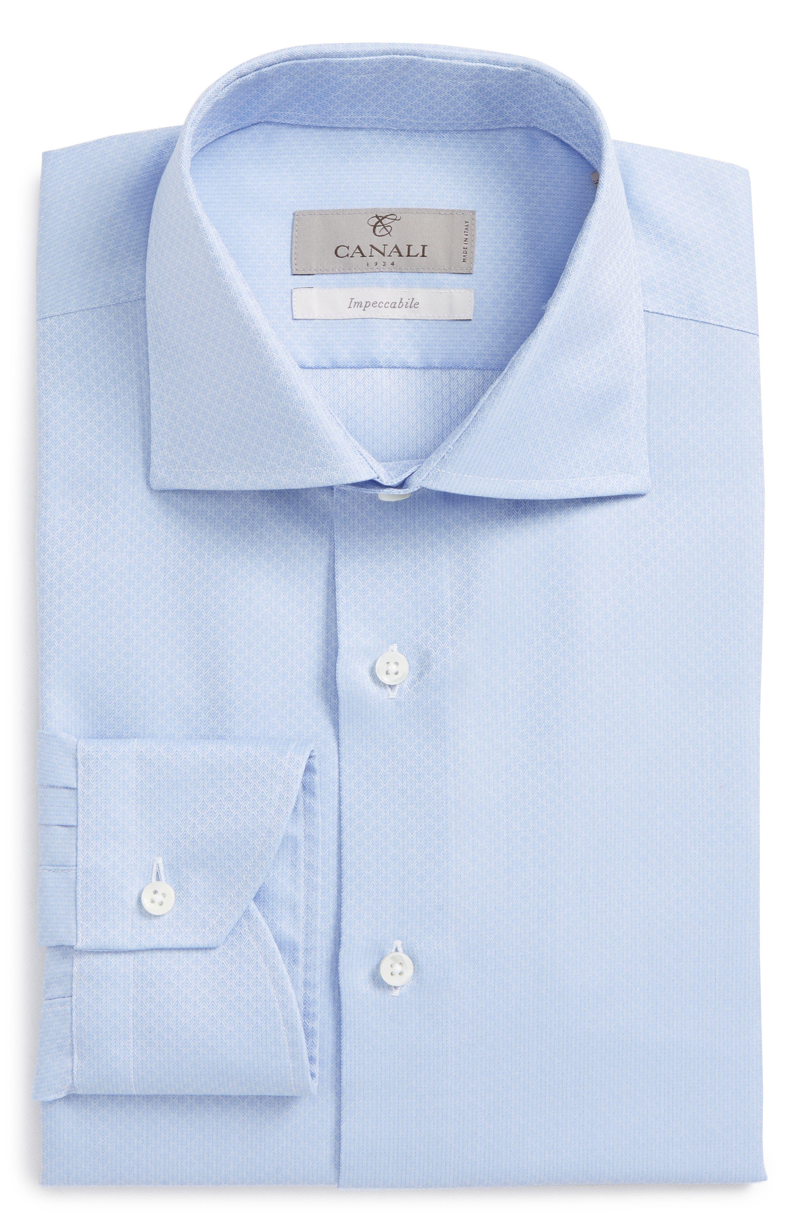 Regular Fit Herringbone Dress Shirt,                         Main,                         color, 420