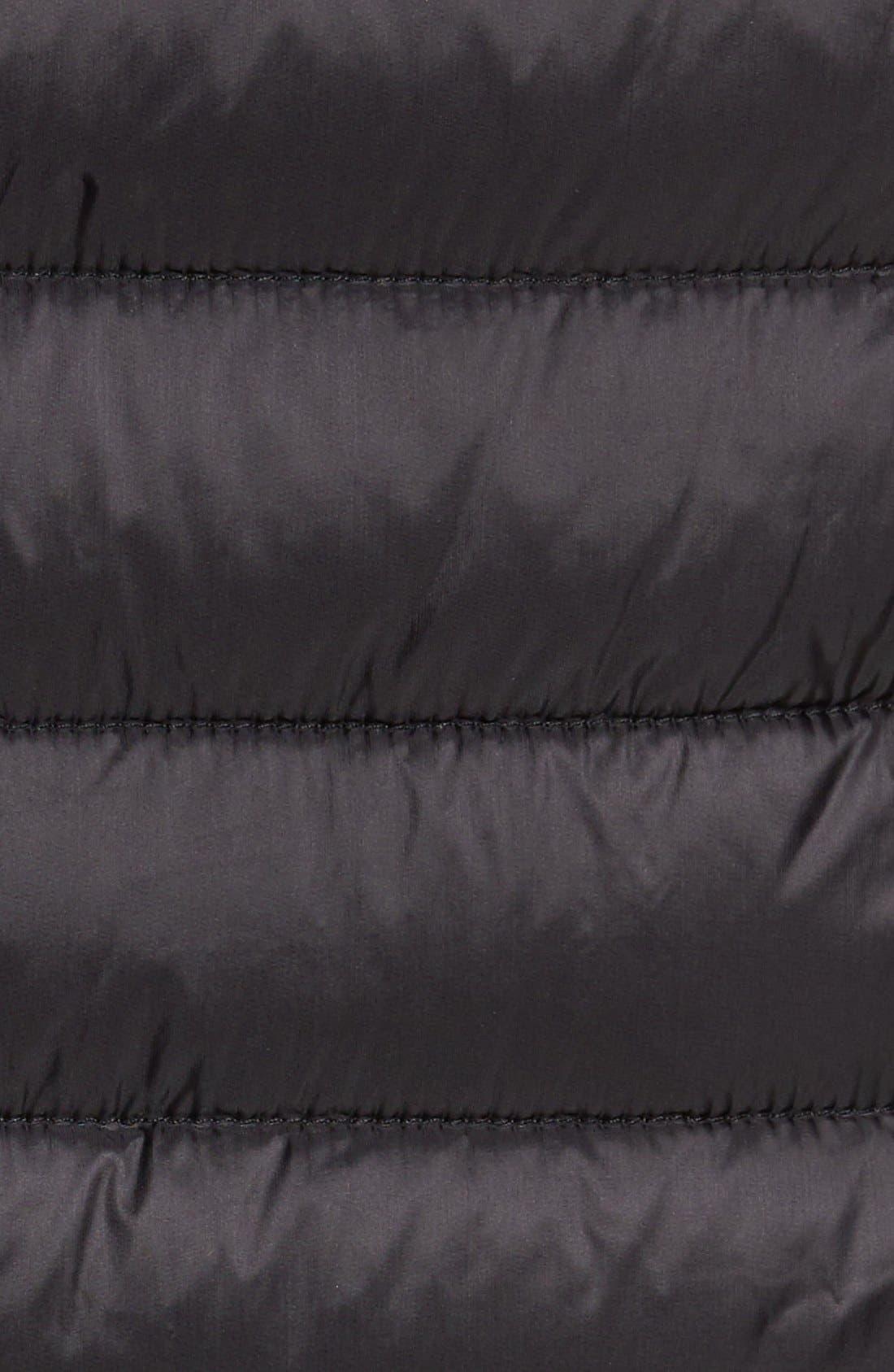 Packable Down Vest,                             Alternate thumbnail 4, color,                             BLACK