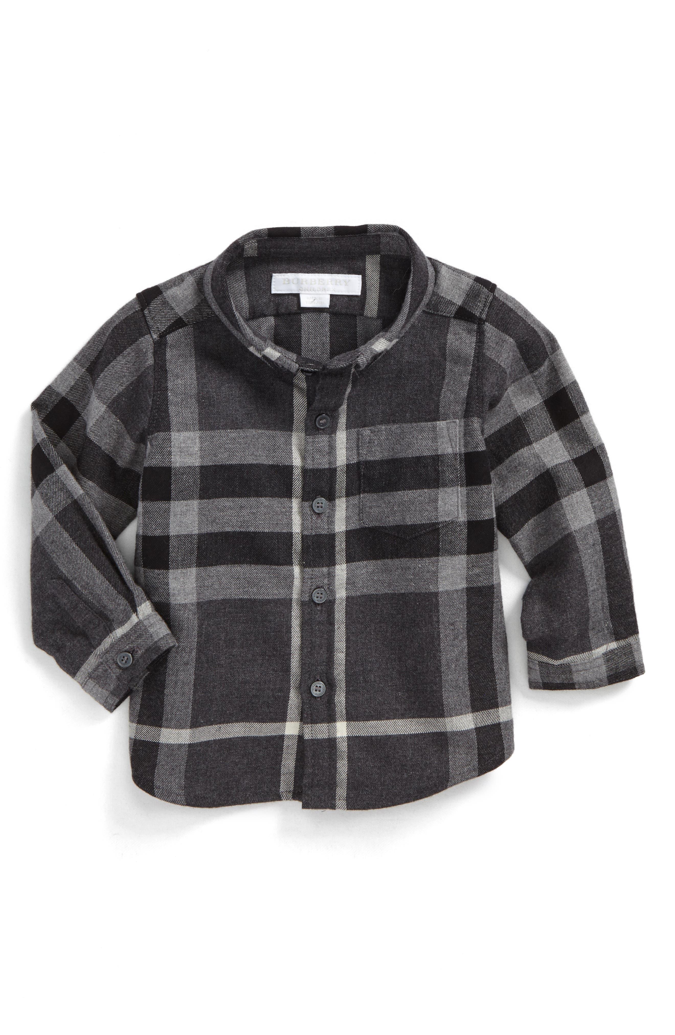 Mini Fred Check Woven Shirt,                         Main,                         color, 024