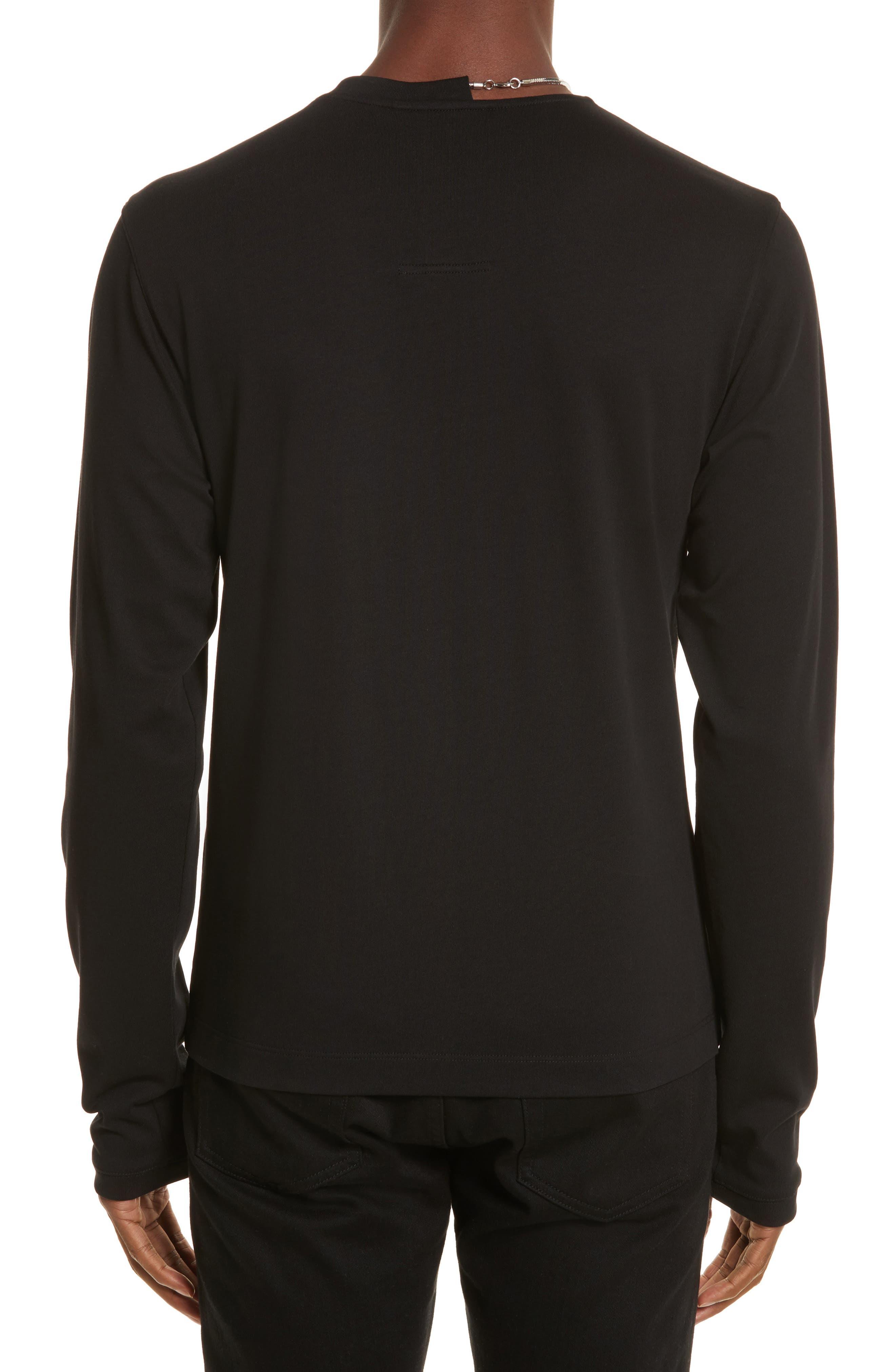 Necklace Crewneck T-Shirt,                             Alternate thumbnail 2, color,                             001