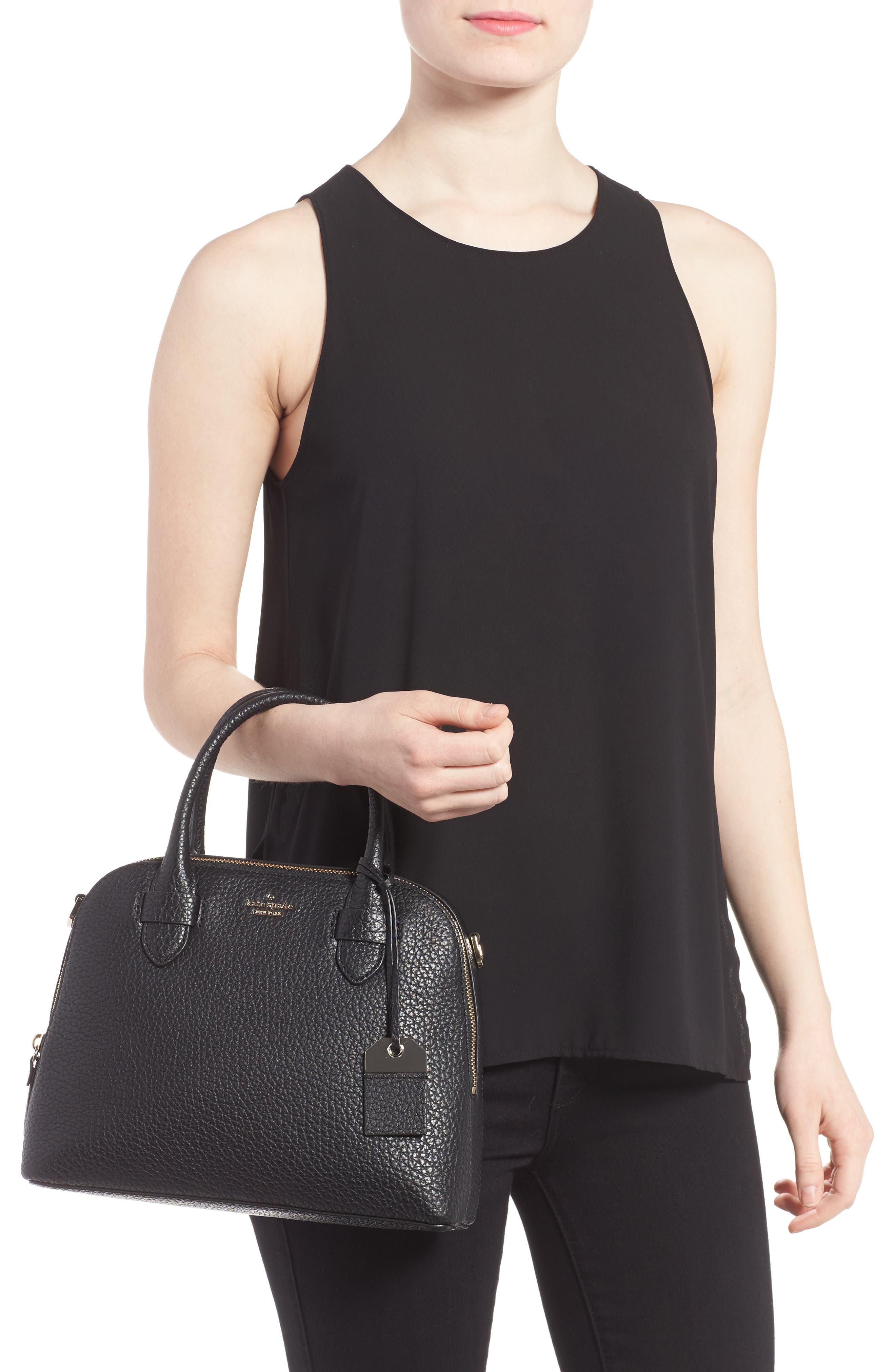 carter street - small ashleigh leather satchel,                             Alternate thumbnail 2, color,                             001