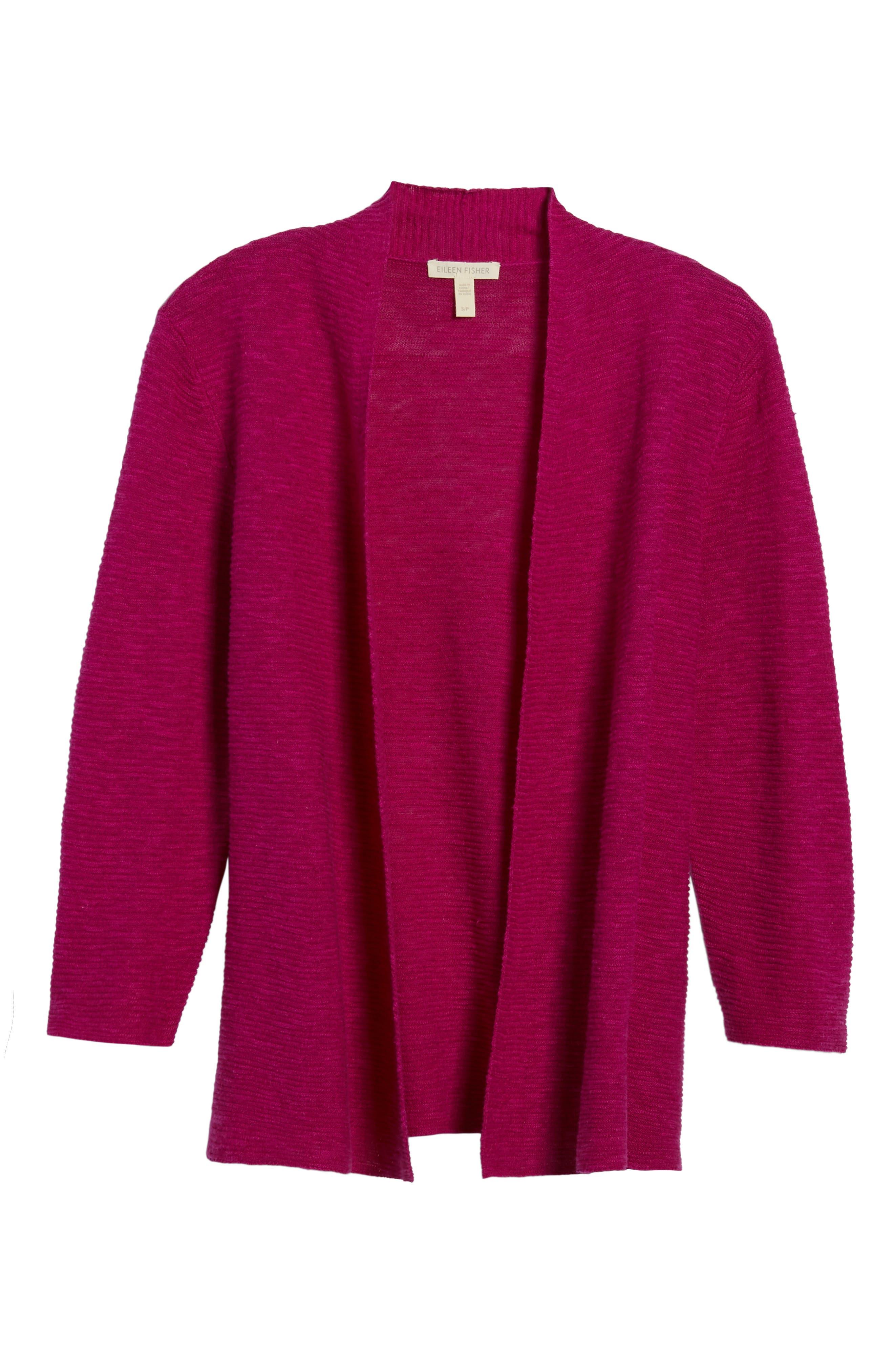 Simple Organic Linen & Cotton Cardigan,                             Alternate thumbnail 19, color,