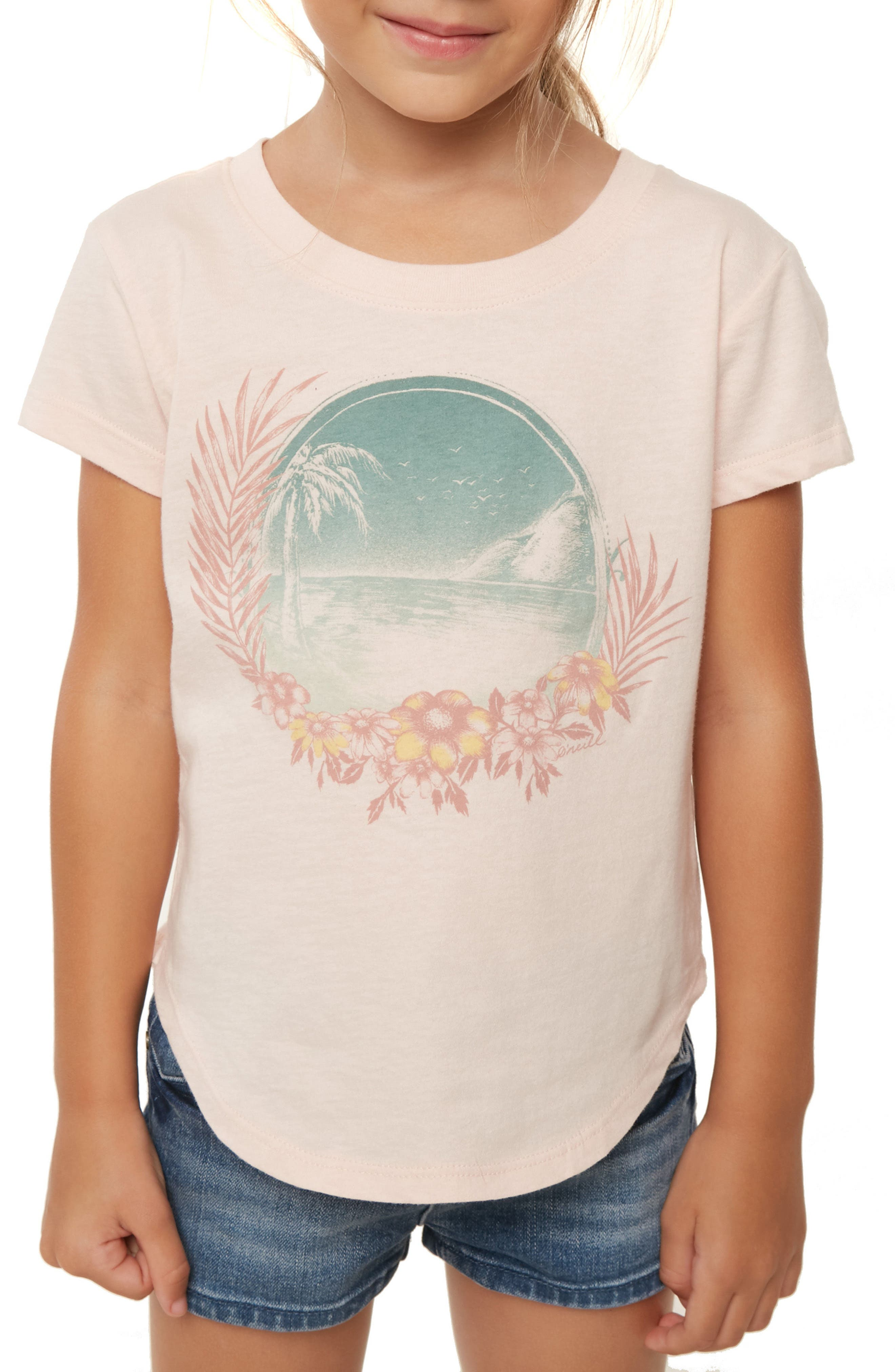 Summertime Graphic Tee,                             Alternate thumbnail 3, color,                             CAMEO ROSE