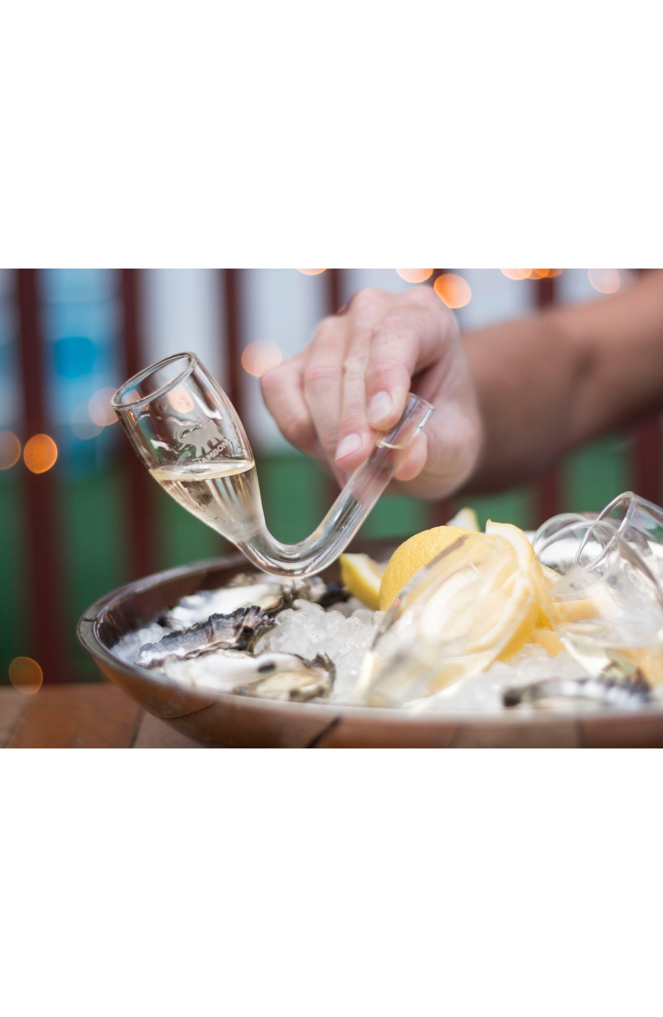 Set of 2 Mini Curved Champagne Glasses,                             Alternate thumbnail 4, color,                             100