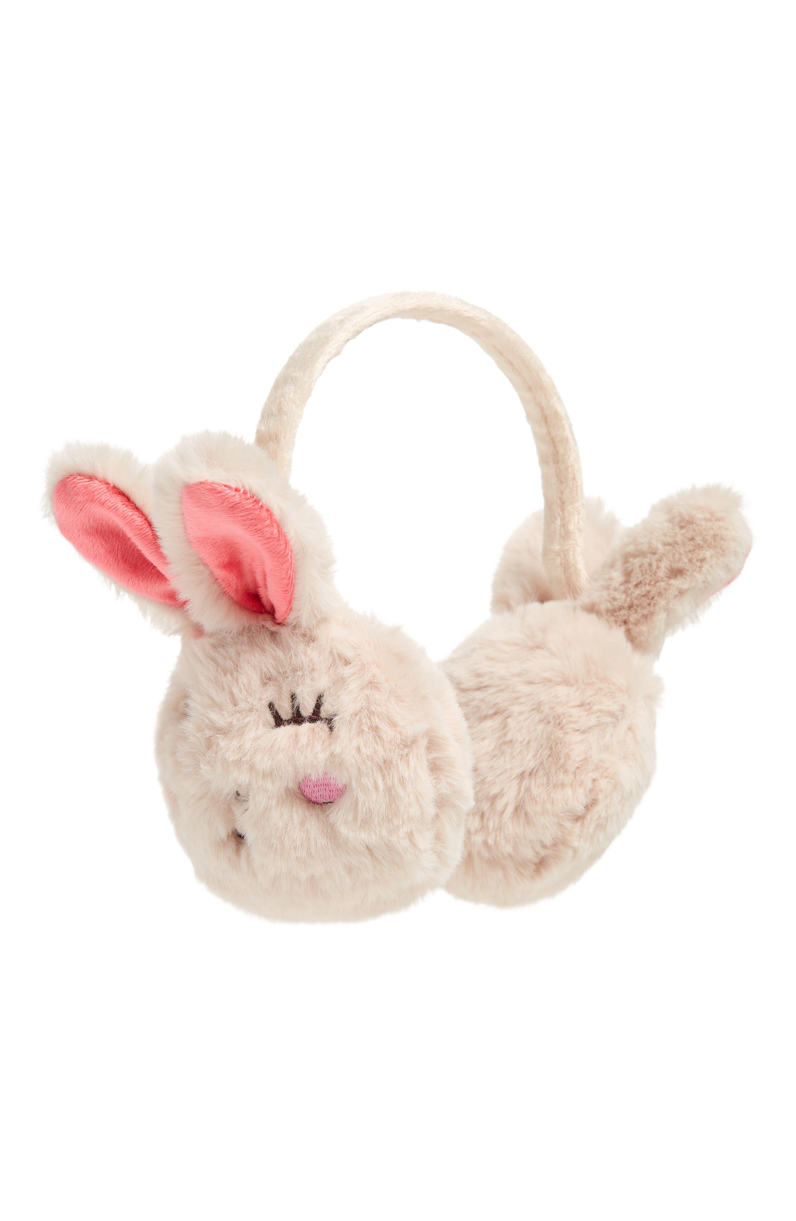 TUCKER + TATE Faux Fur Bunny Earmuffs, Main, color, 050