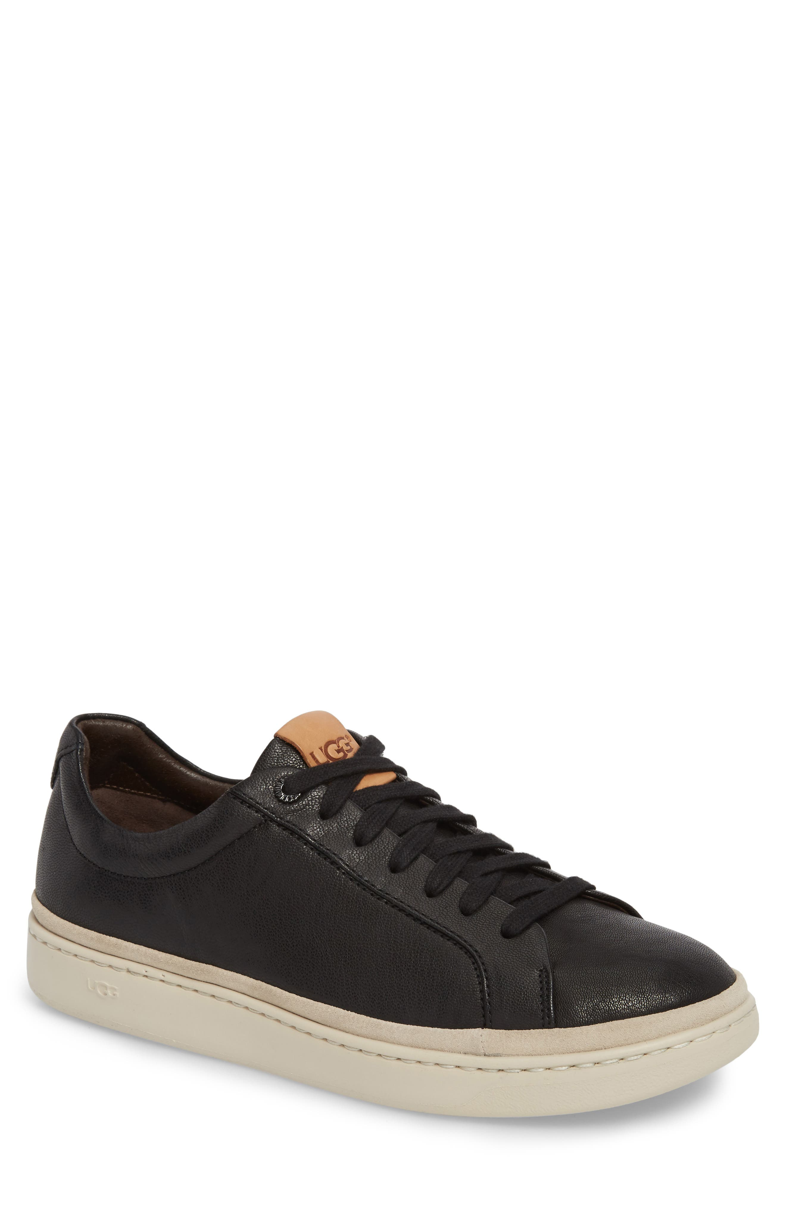 Brecken Sneaker,                             Main thumbnail 1, color,                             BLACK LEATHER