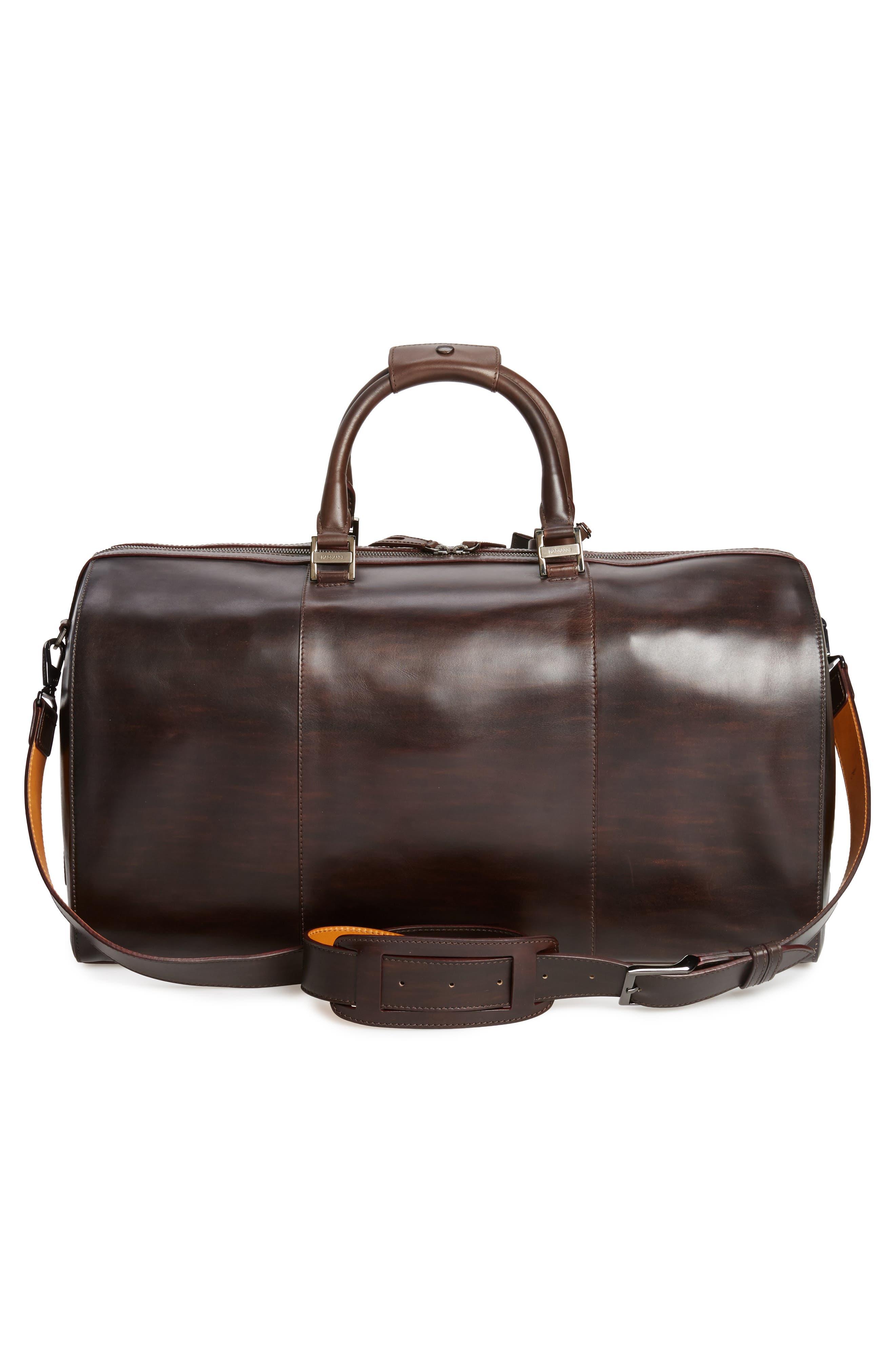 Traveler Leather Duffel Bag,                             Alternate thumbnail 10, color,