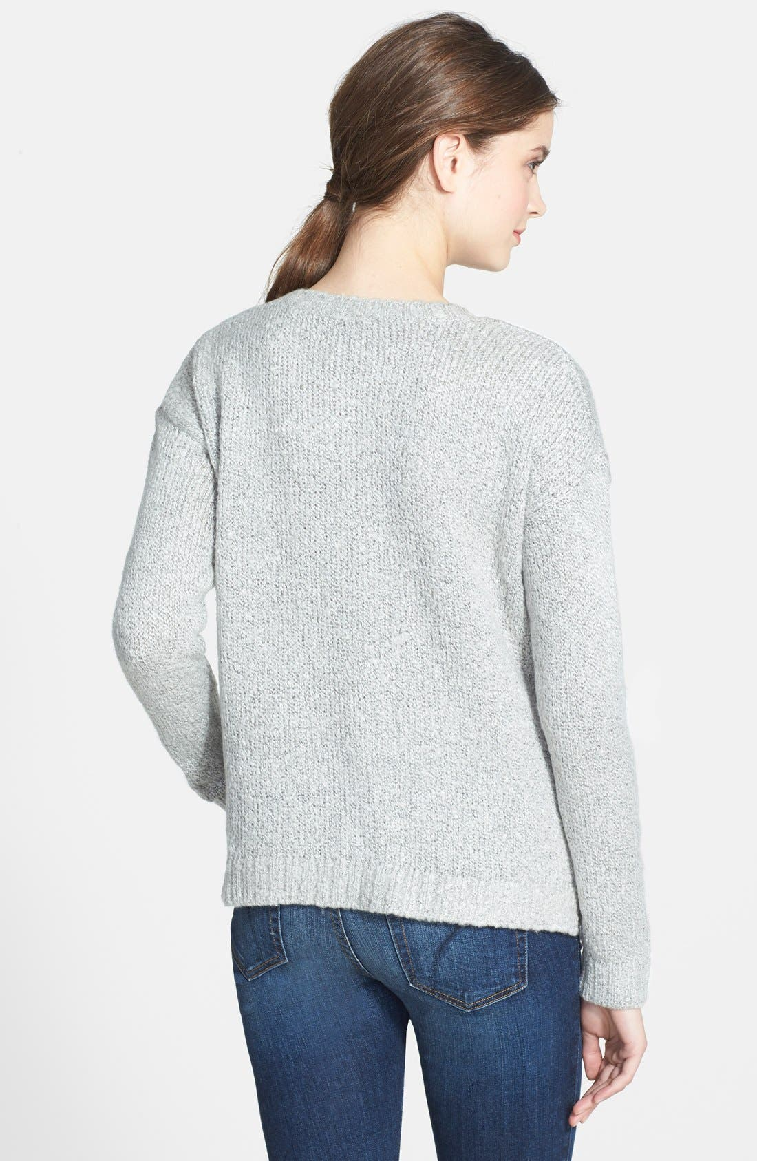 'Sheep' Fuzzy Knit Sweater,                             Alternate thumbnail 2, color,                             073