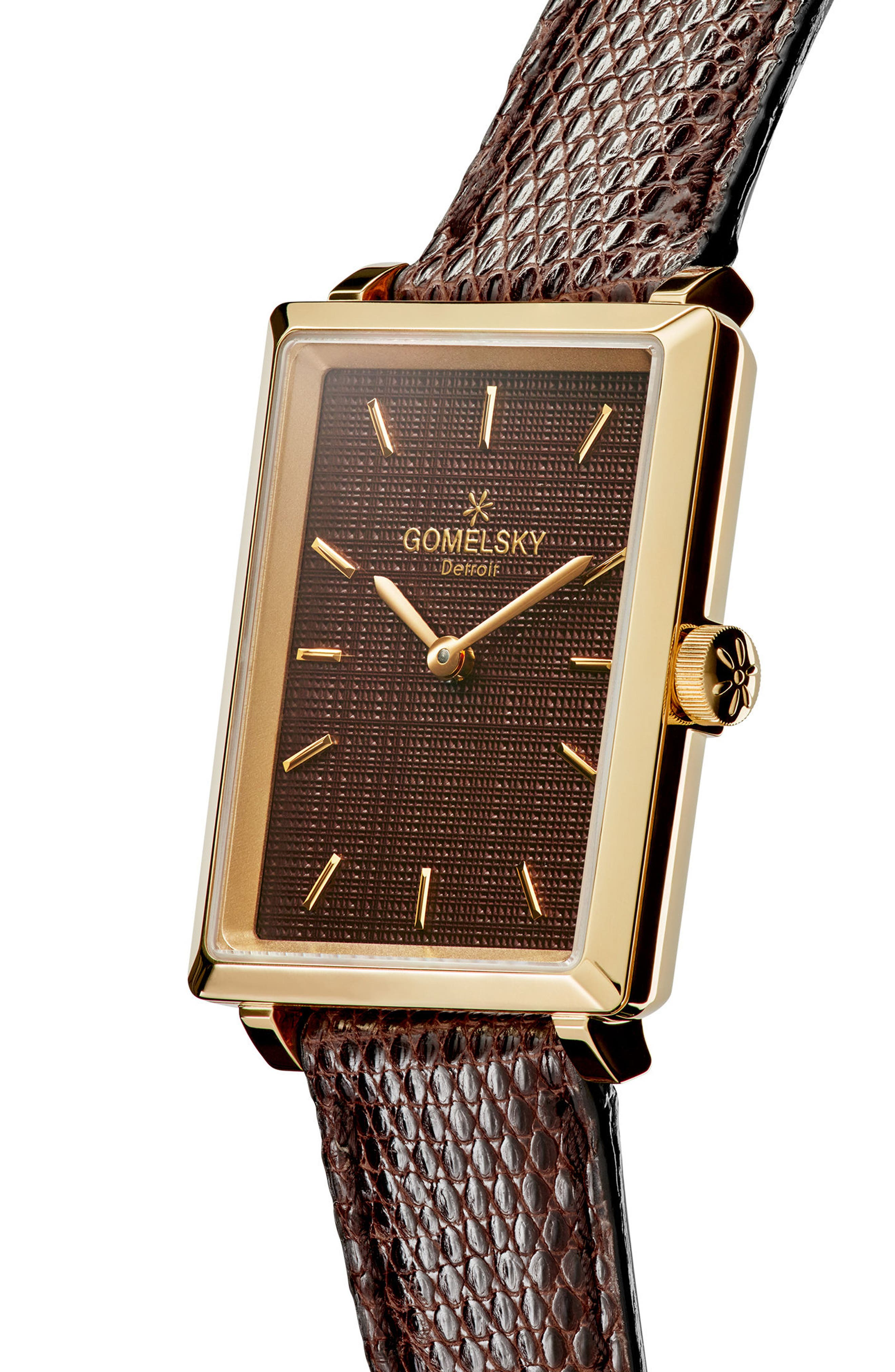 The Shirley Fromer Leather Strap Watch, 32mm x 25mm,                             Alternate thumbnail 15, color,
