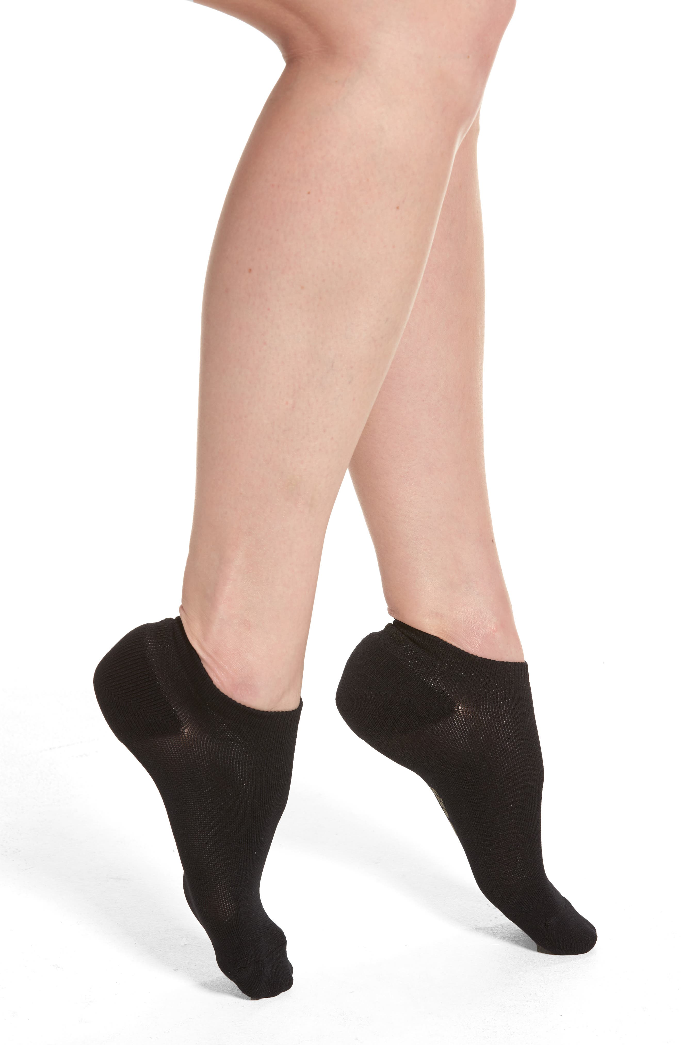 Low-Cut Socks,                             Main thumbnail 1, color,                             BLACK
