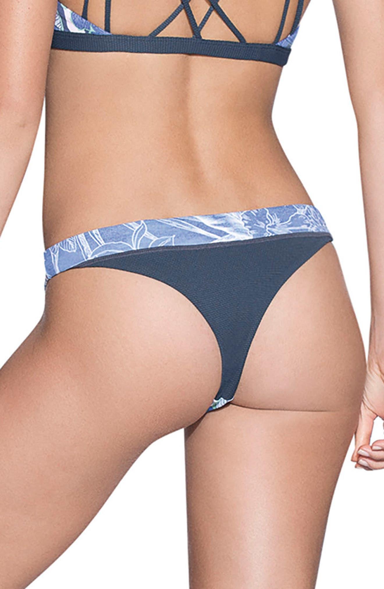 Gorgona Forest Signature Cut Reversible Bikini Bottoms,                             Alternate thumbnail 2, color,