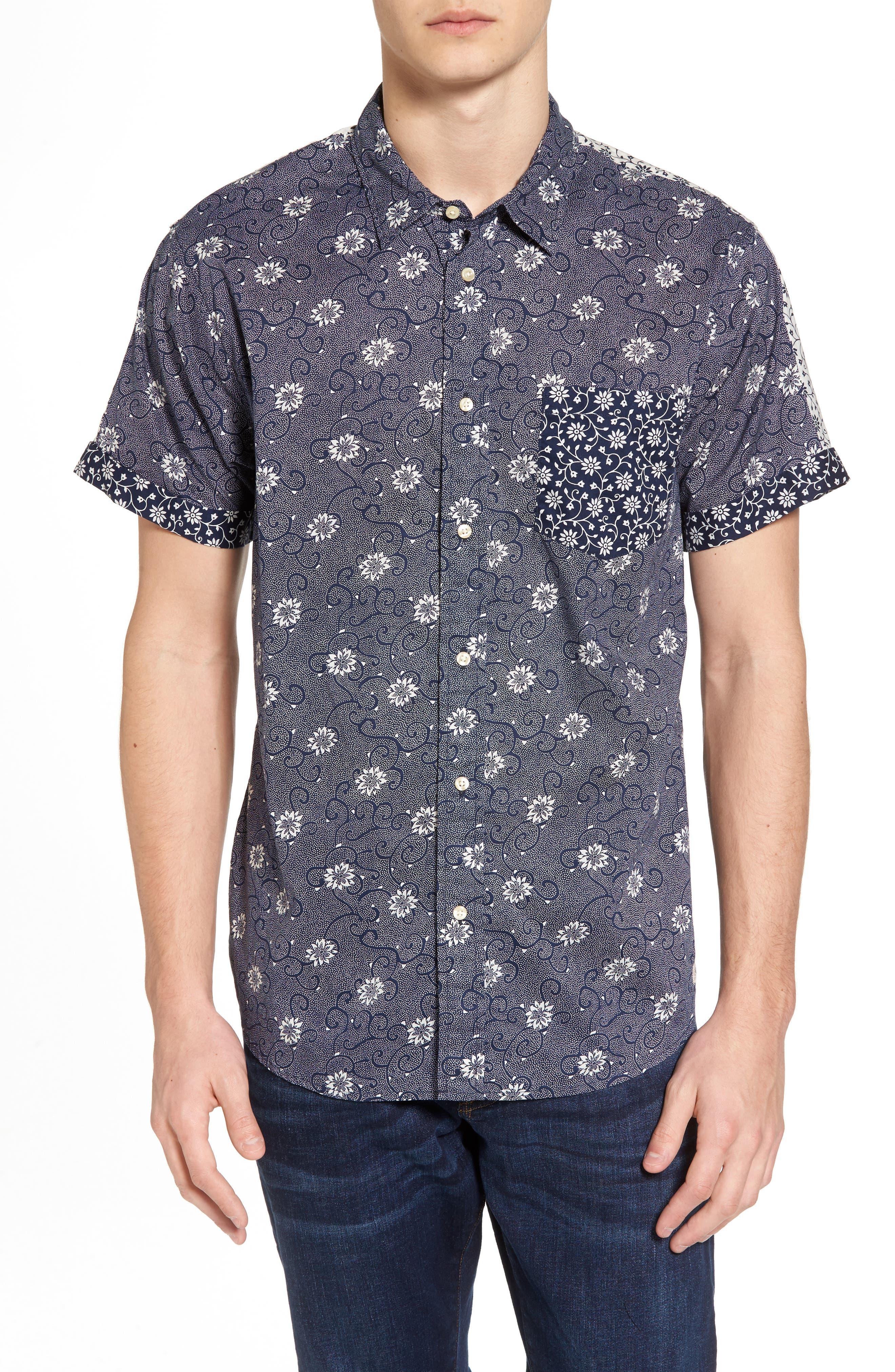 Mix & Match Print Woven Shirt,                         Main,                         color, 410