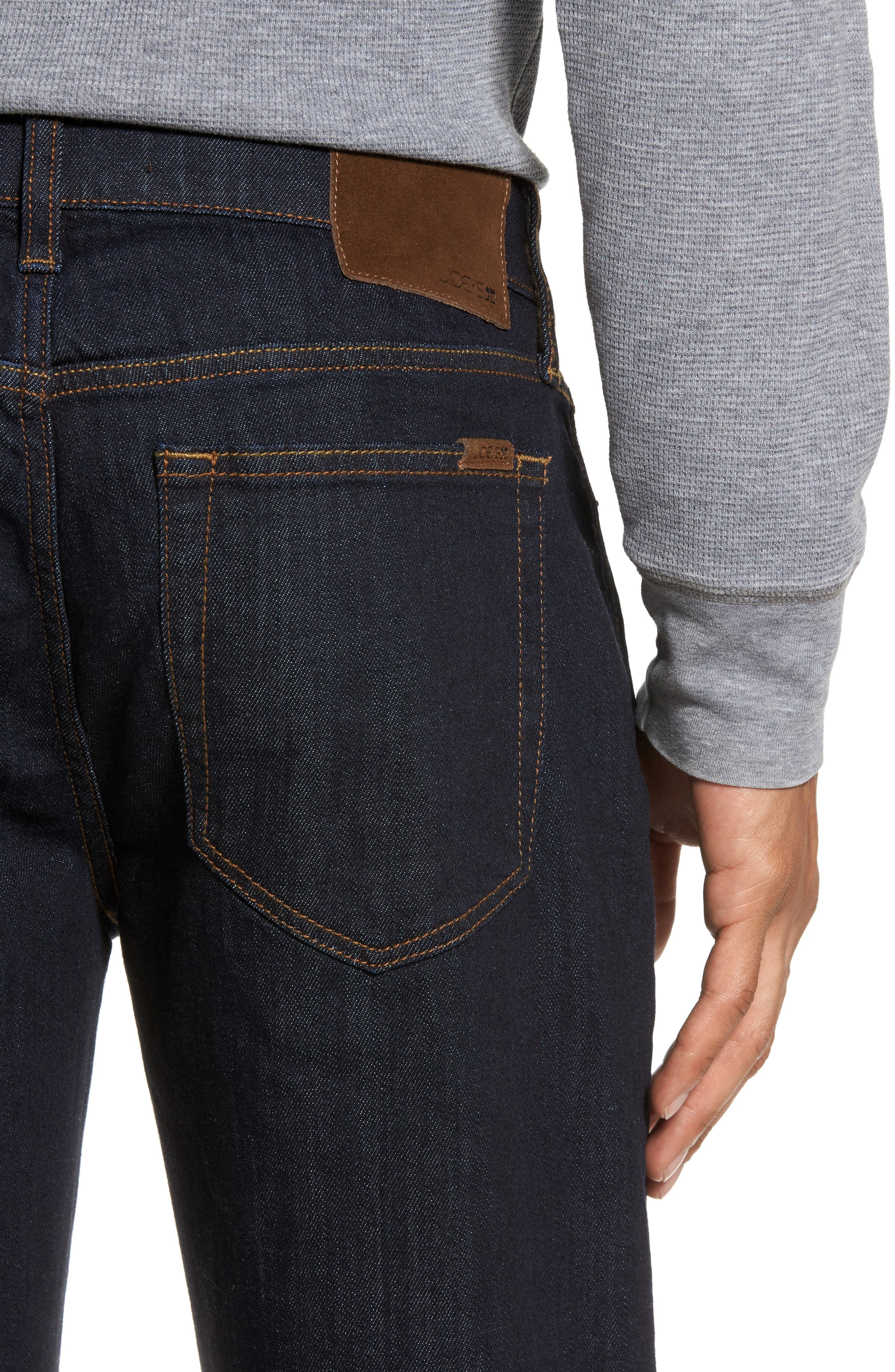Classic Straight Fit Jeans,                             Alternate thumbnail 4, color,                             400