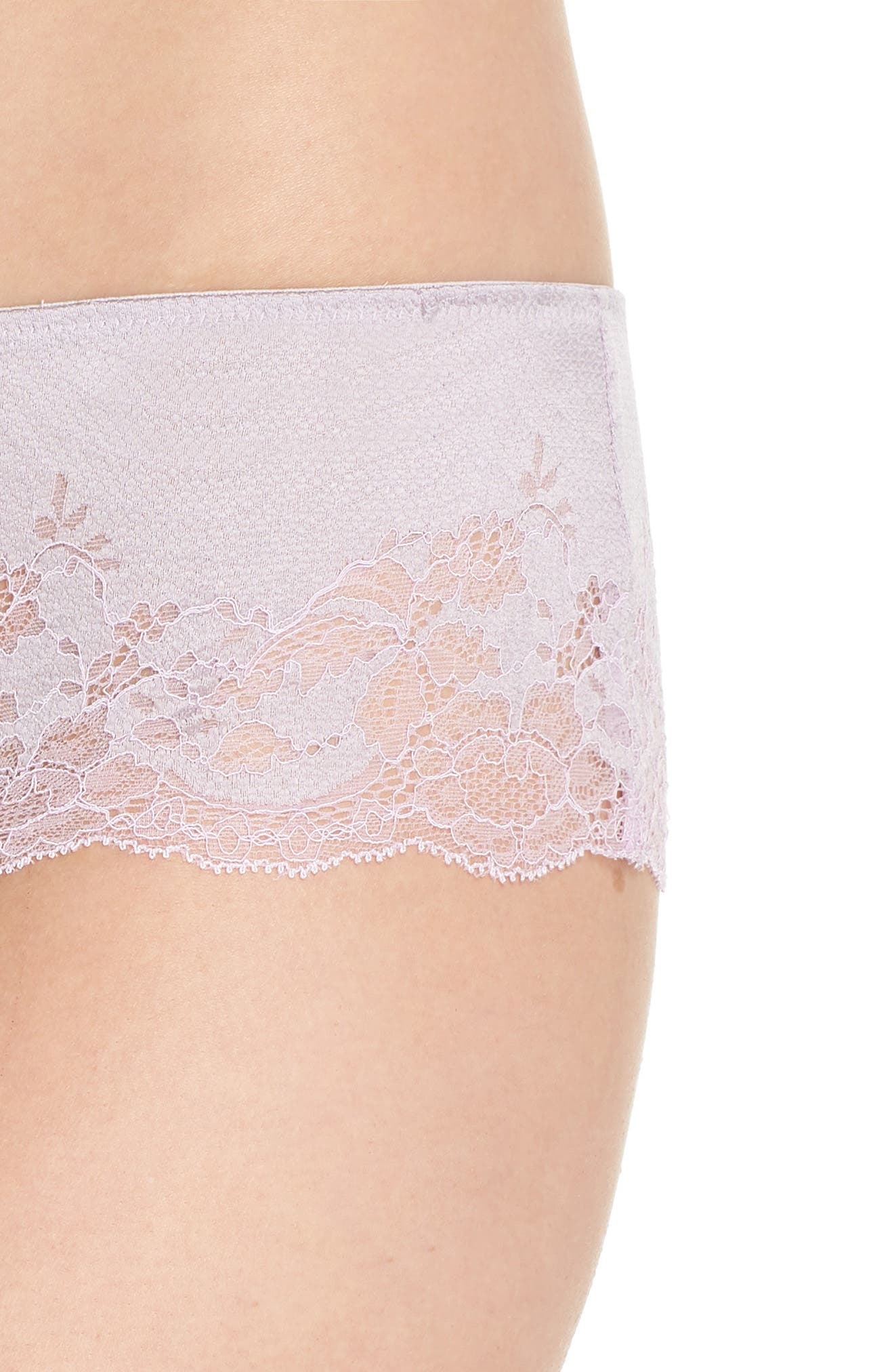 Lace Affair Tanga,                             Alternate thumbnail 4, color,                             LILAC MARBLE / PASTEL LILAC