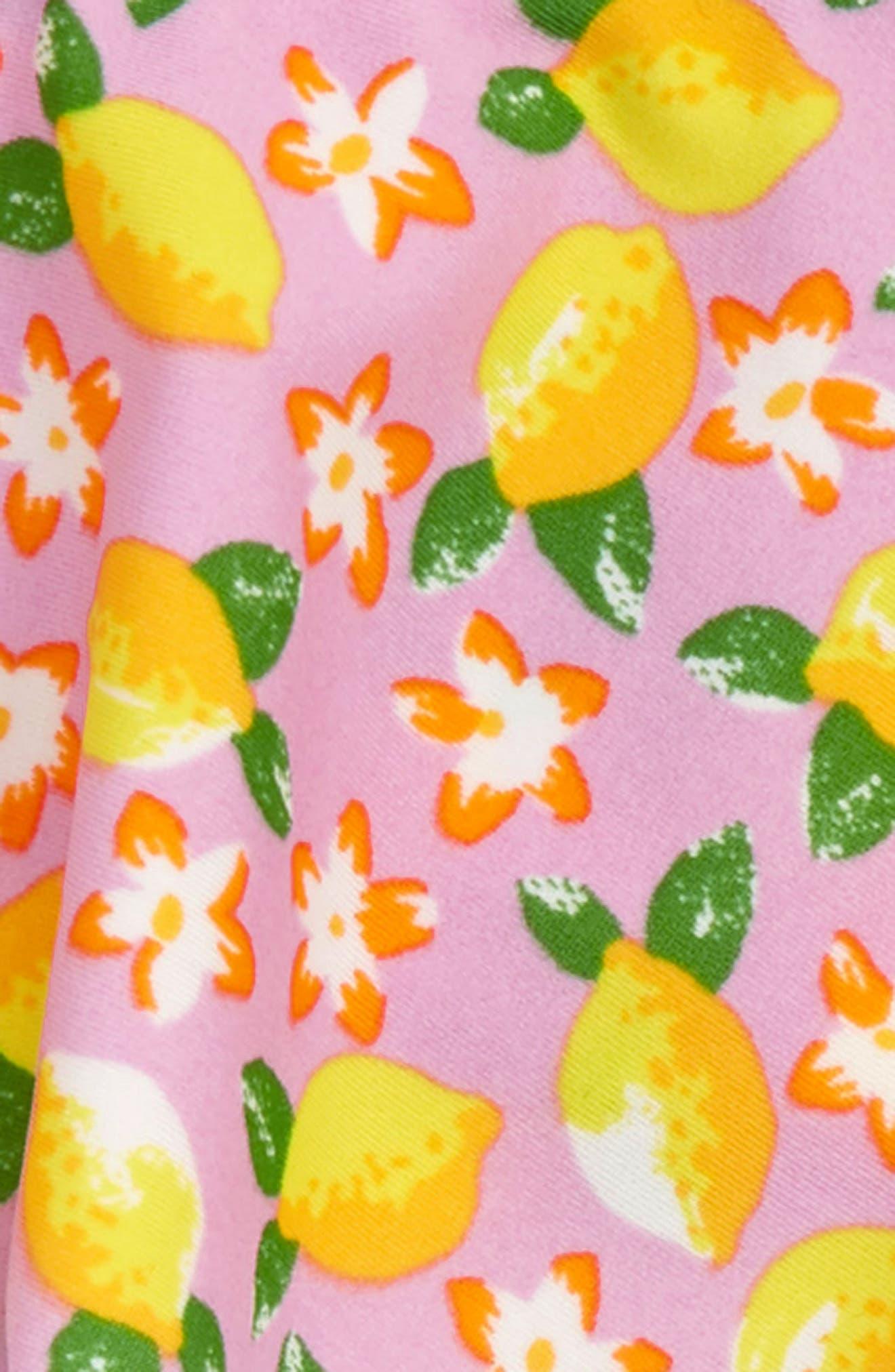 Lemon Print Ruffle Two-Piece Swimsuit,                             Alternate thumbnail 2, color,                             650