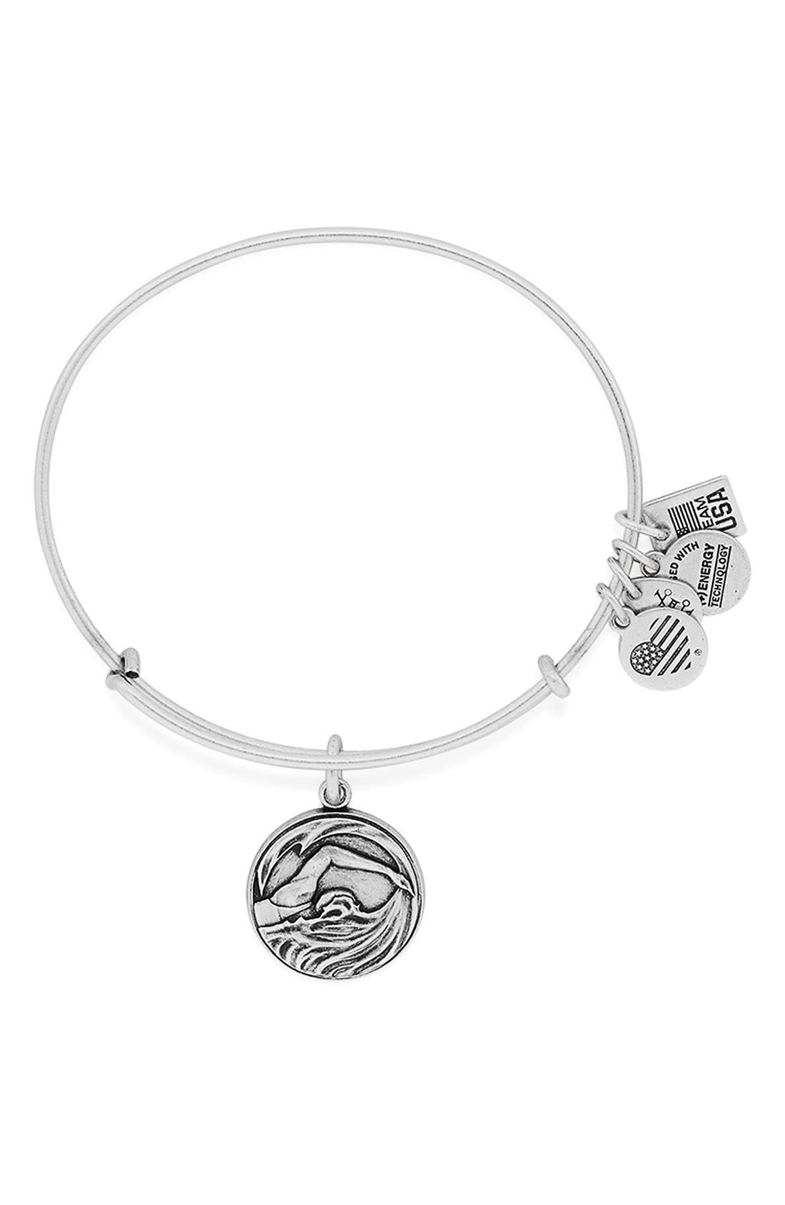 'Team USA - Swimming' Bangle Bracelet, Main, color, 040
