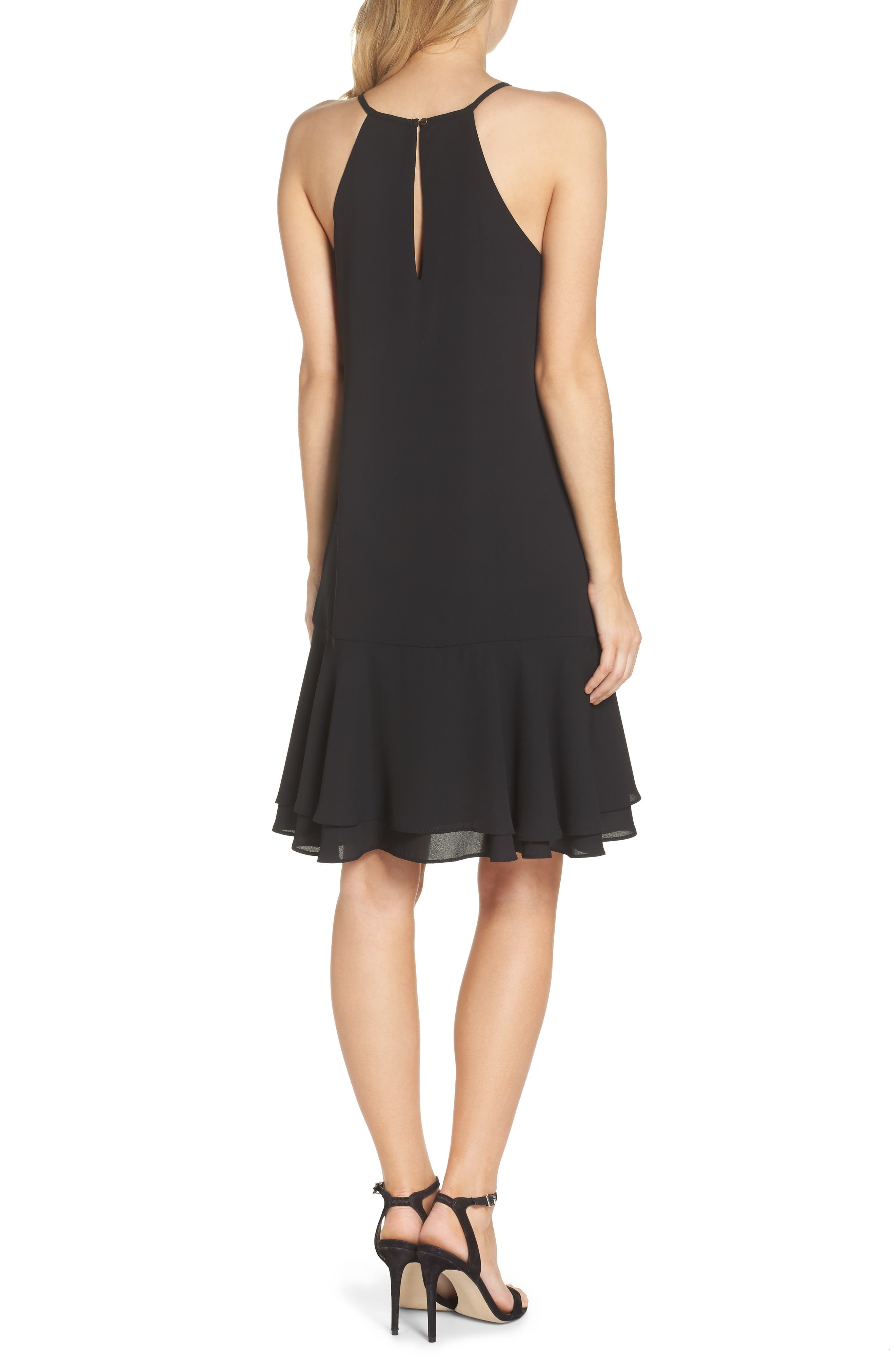 Tiered Shift Dress,                             Alternate thumbnail 2, color,                             001
