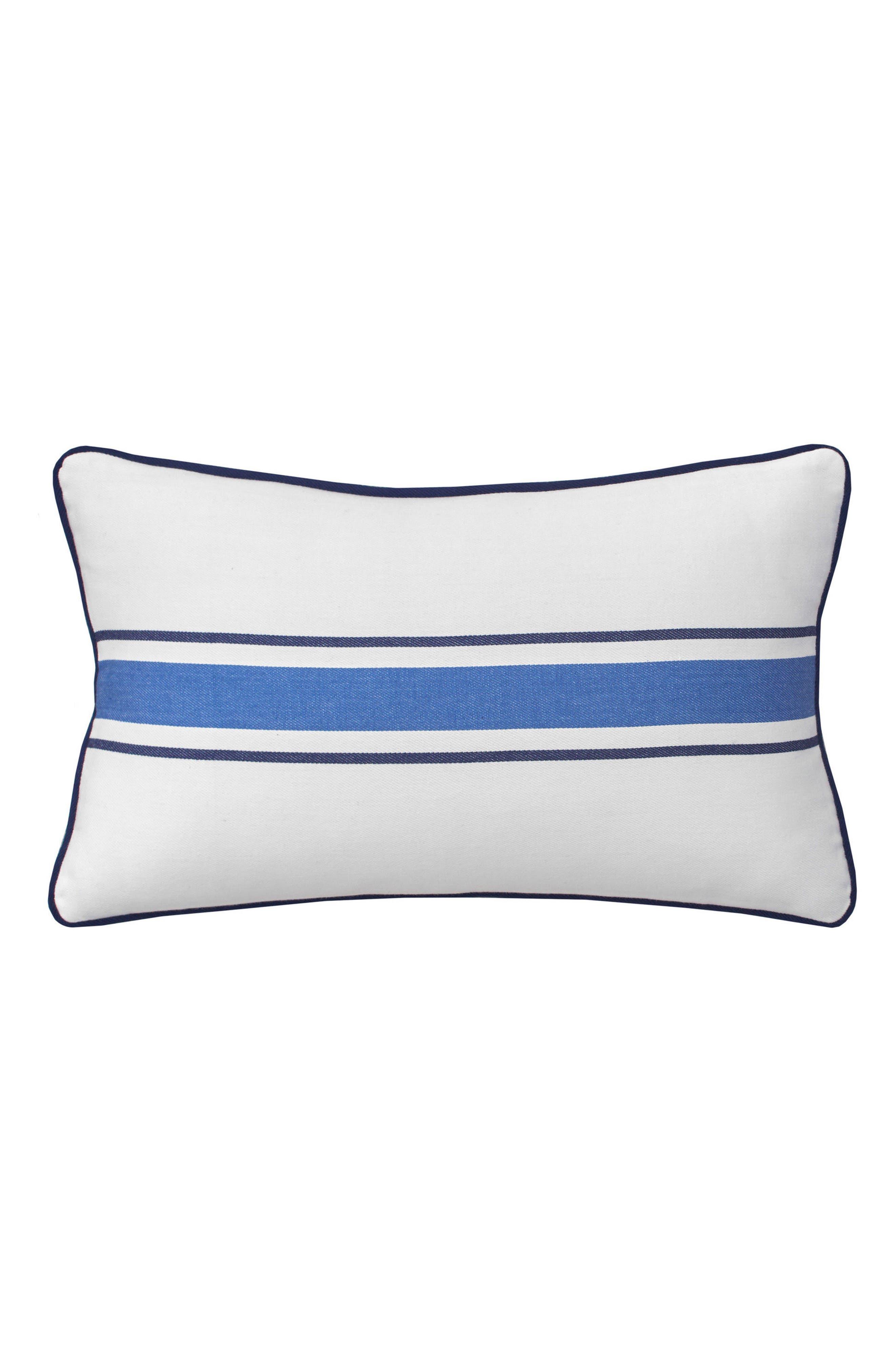 Dock Street Stripe Accent Pillow,                             Main thumbnail 1, color,                             100