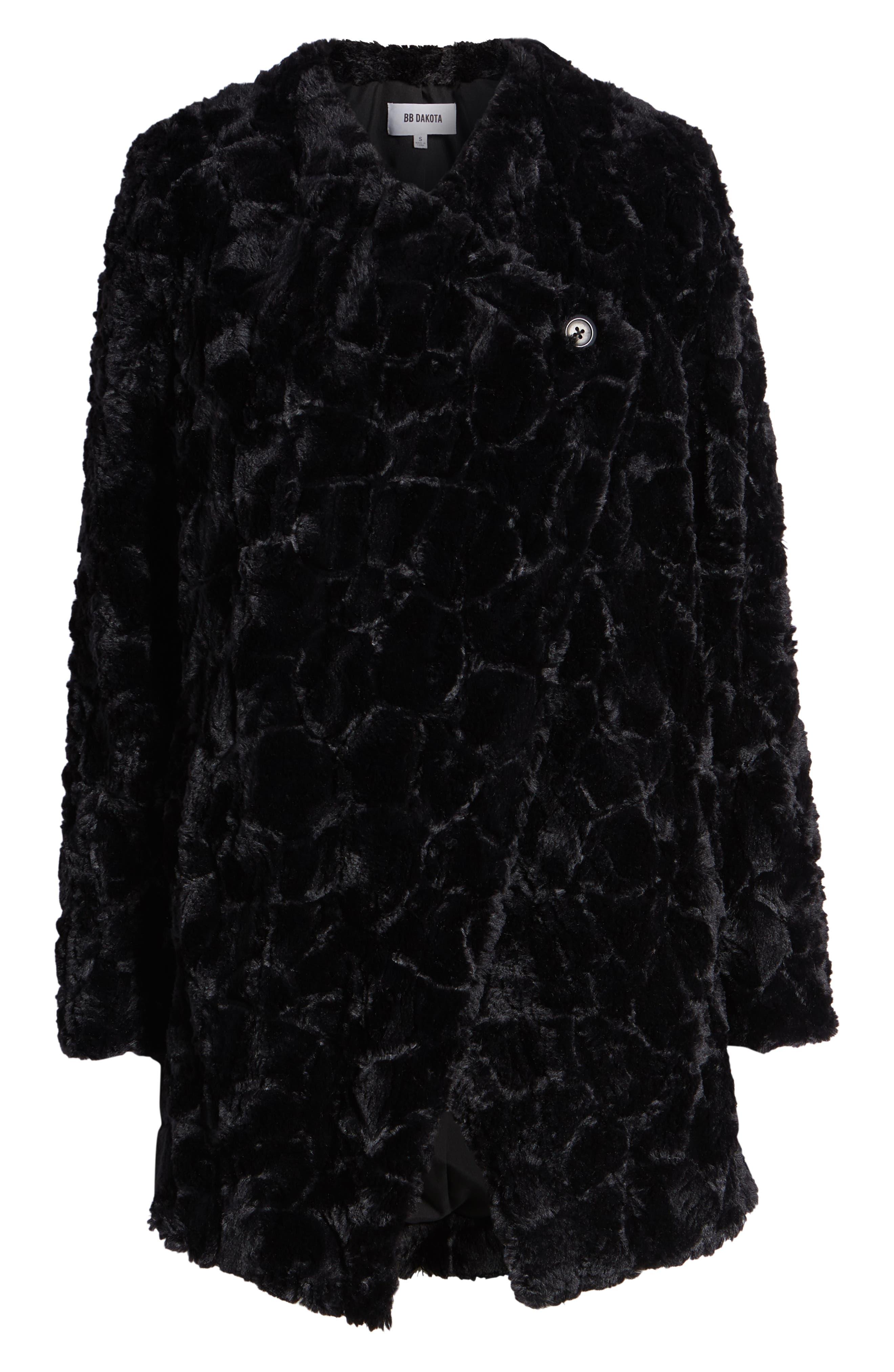 Tucker Wubby Faux Fur Coat,                             Alternate thumbnail 6, color,                             001