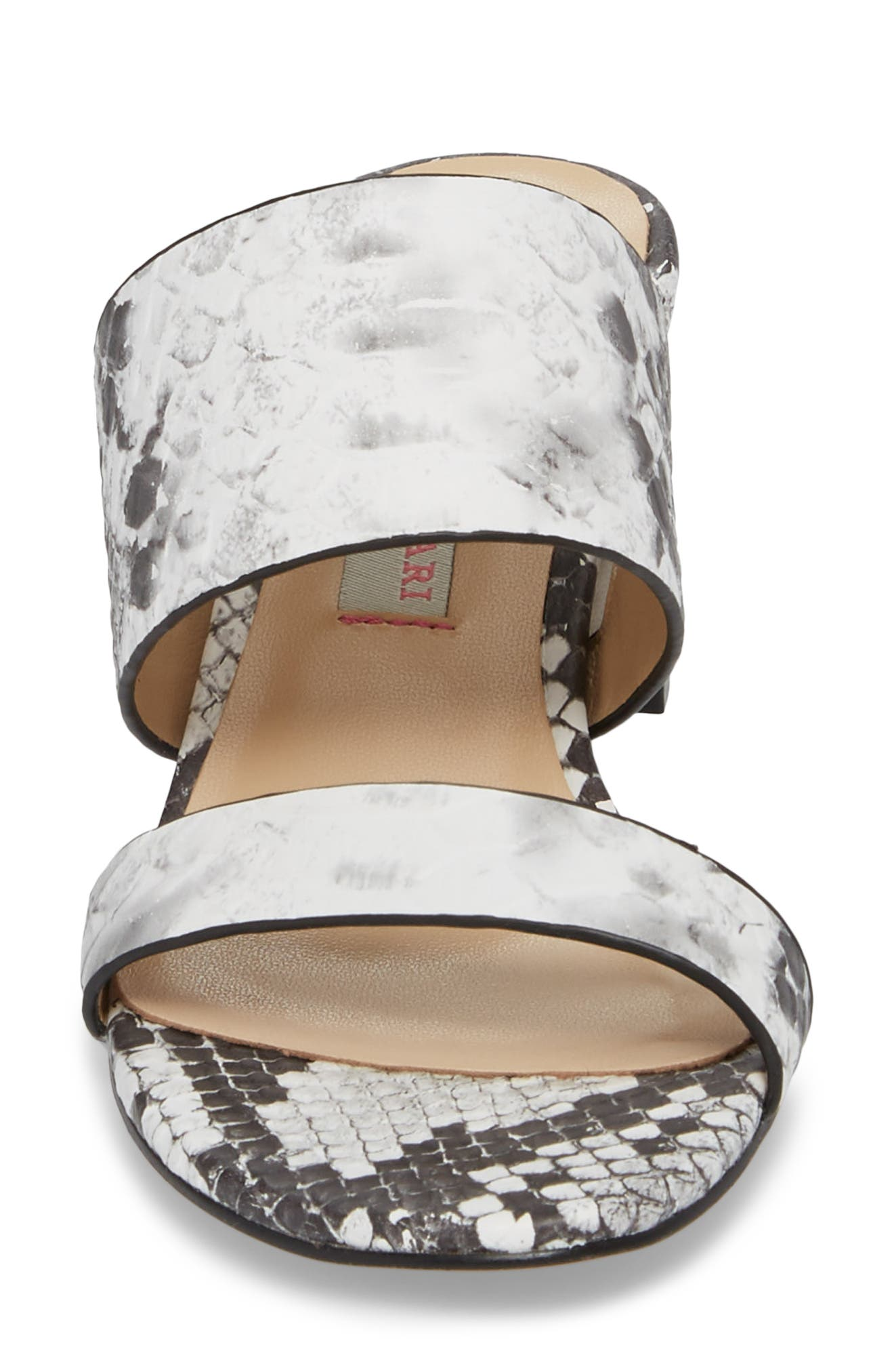 Lakeview Sandal,                             Alternate thumbnail 4, color,                             GREY/ WHITE PRINT LEATHER