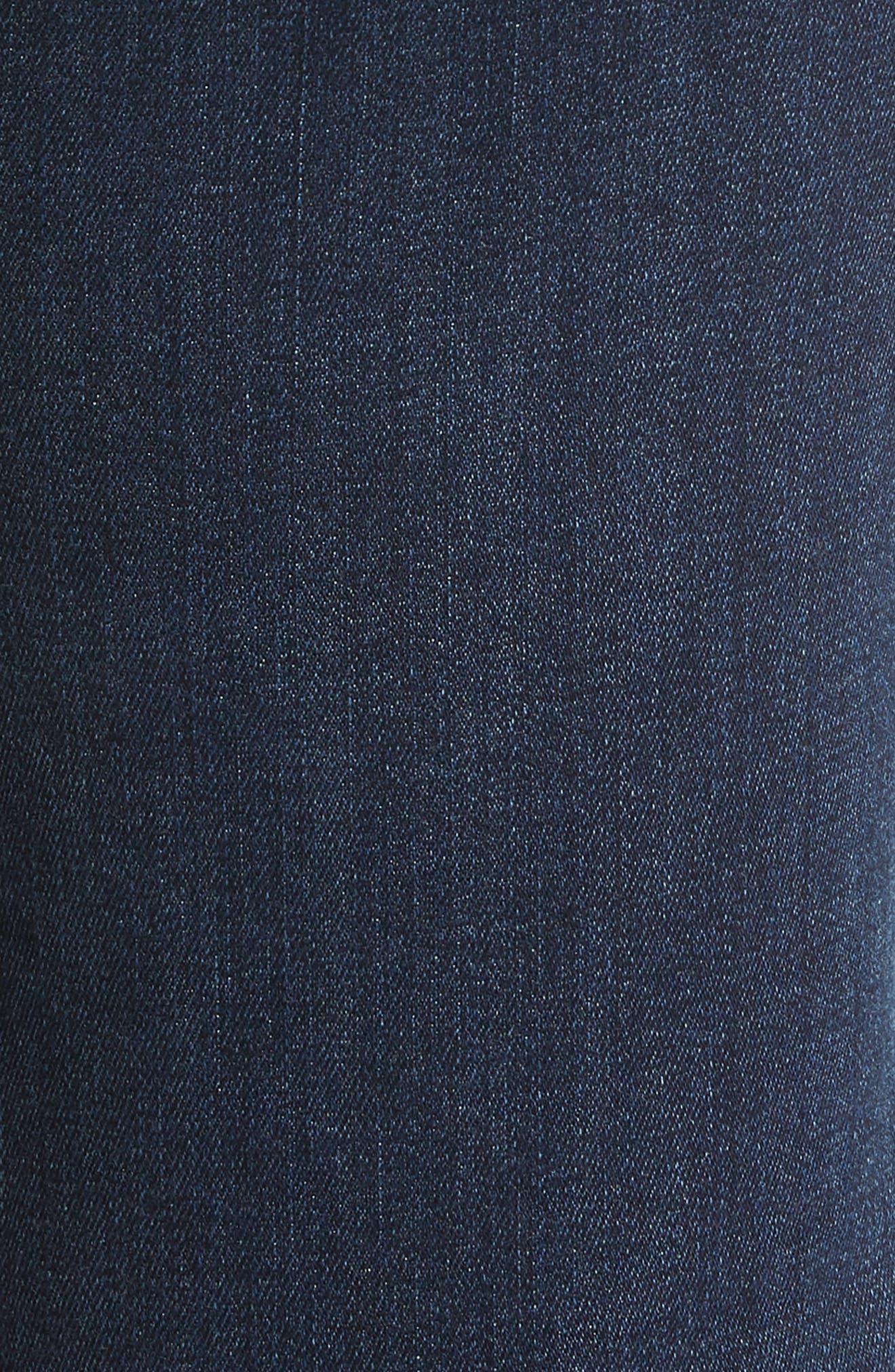 Margot High Waist Ankle Straight Leg Jeans,                             Alternate thumbnail 6, color,