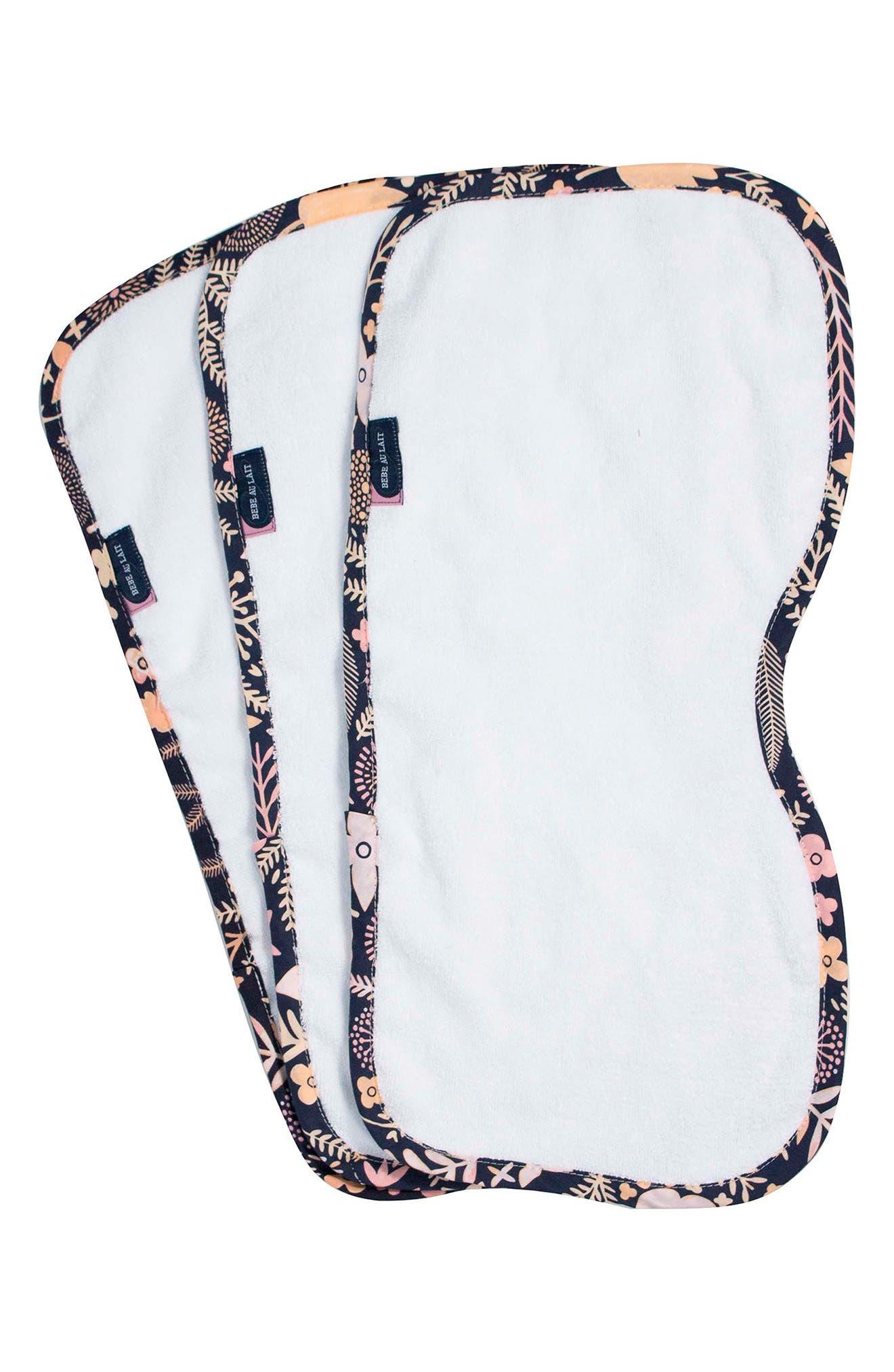3-Pack Cotton Burp Cloth Set,                         Main,                         color, HAVEN