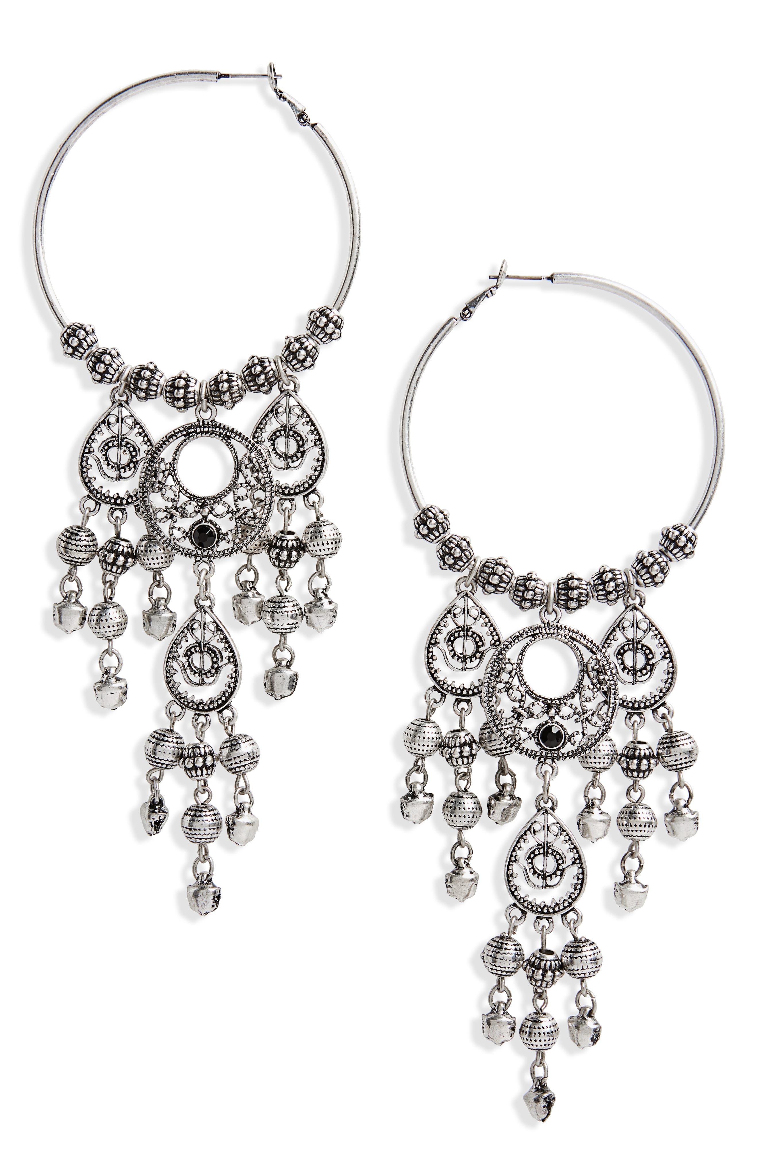 Hoop Chandelier Earrings,                             Main thumbnail 1, color,