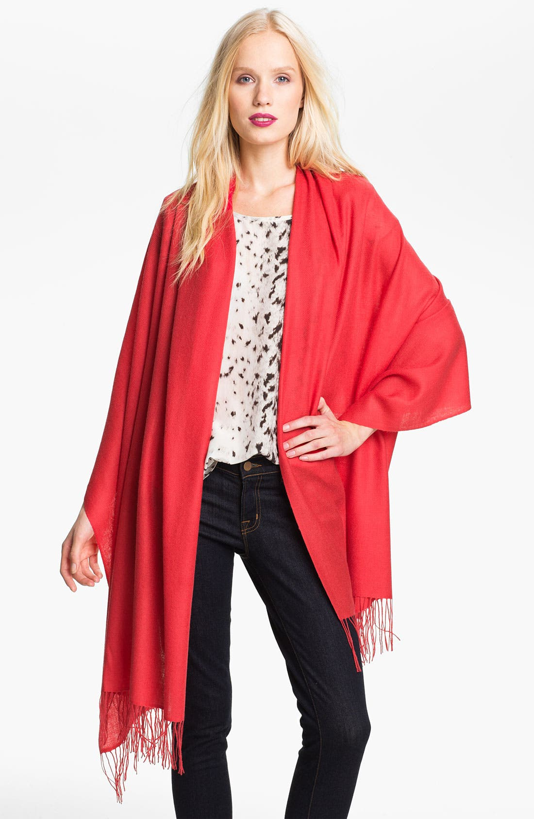 Tissue Weight Wool & Cashmere Wrap,                             Main thumbnail 130, color,