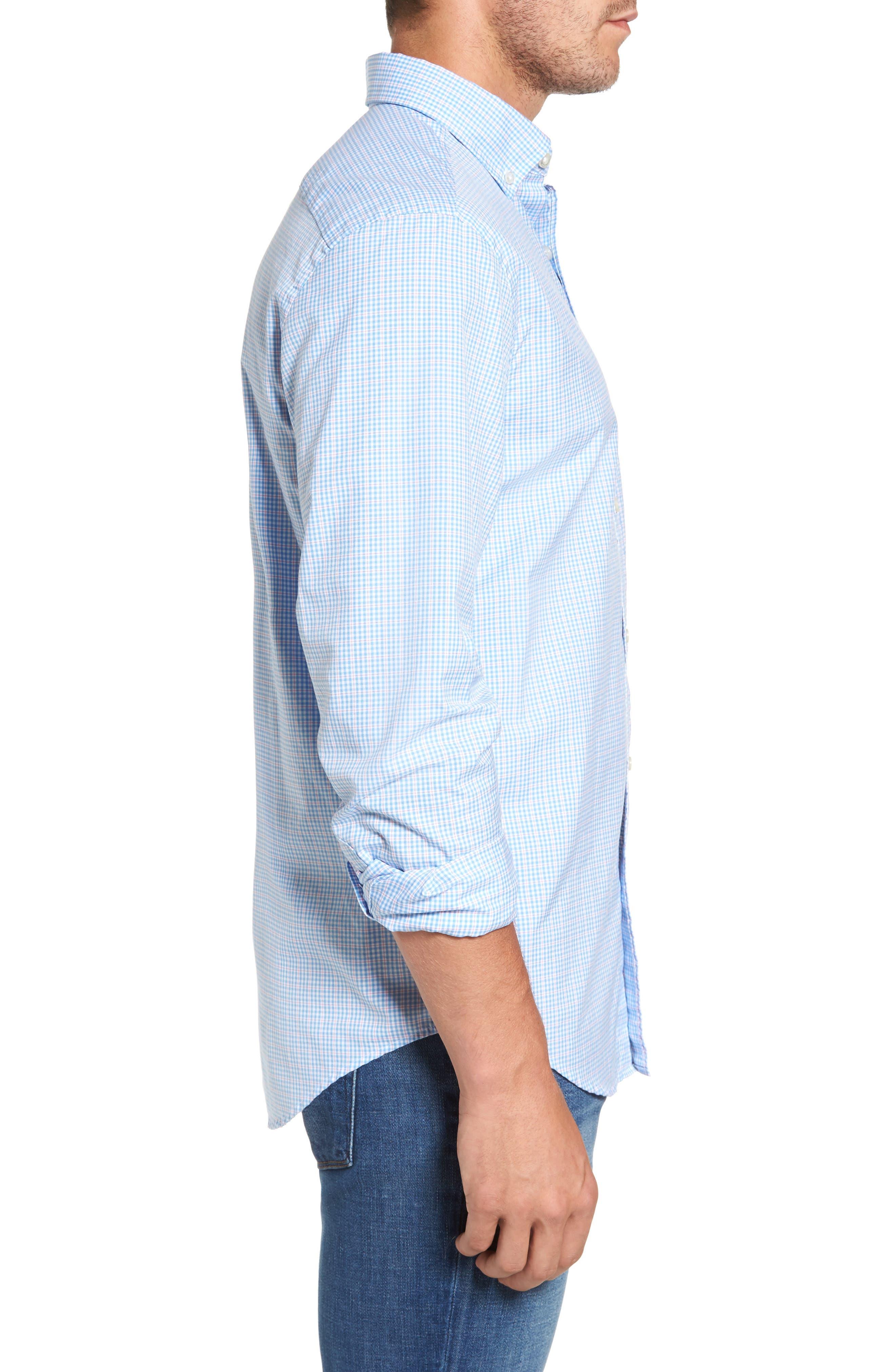 Stowaway Plaid Tucker Classic Fit Sport Shirt,                             Alternate thumbnail 3, color,                             484