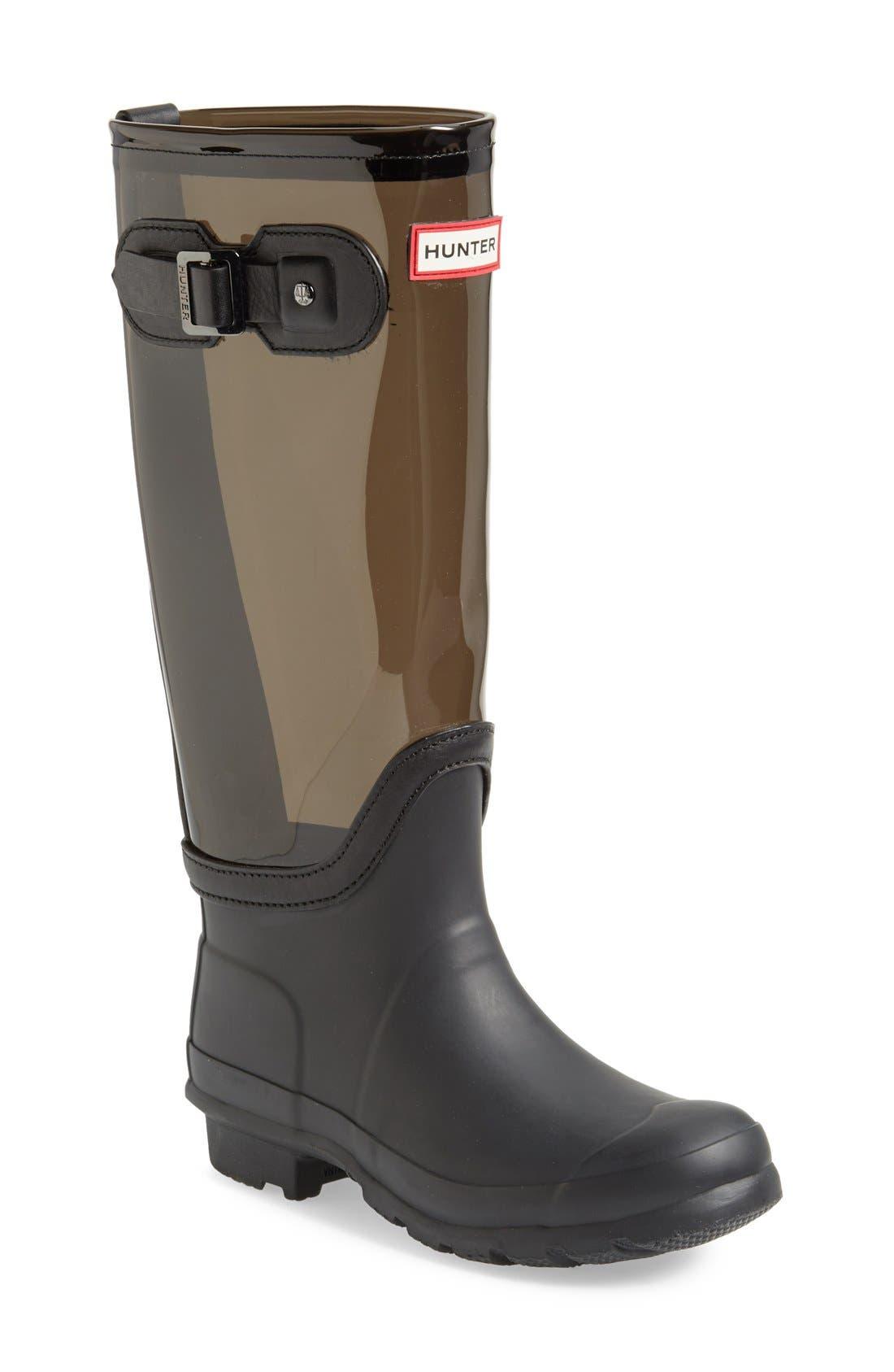 'Original' Clear Waterproof Rain Boot,                             Main thumbnail 1, color,                             021