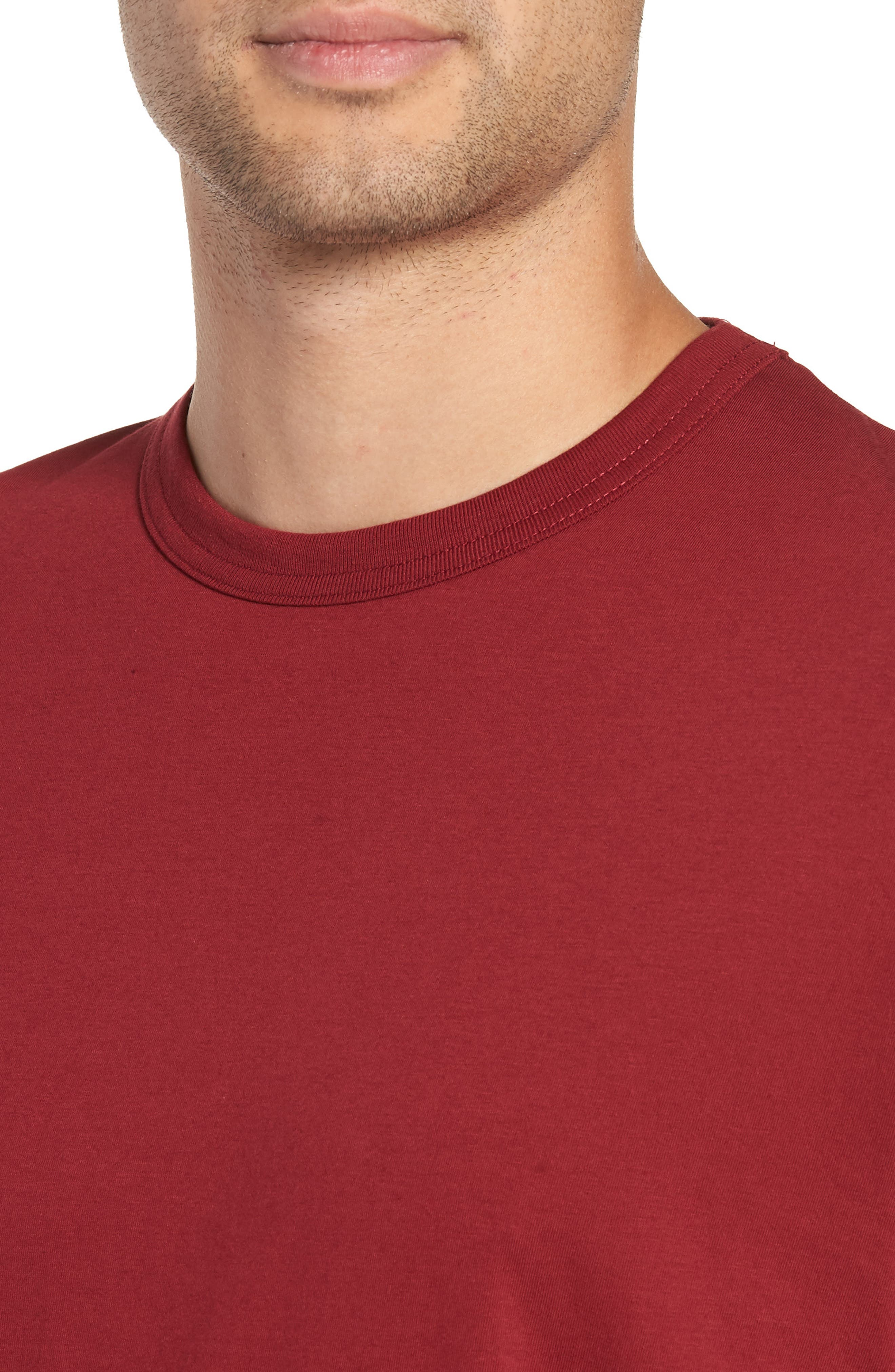 Bound Classic Crew T-Shirt,                             Alternate thumbnail 4, color,                             RED